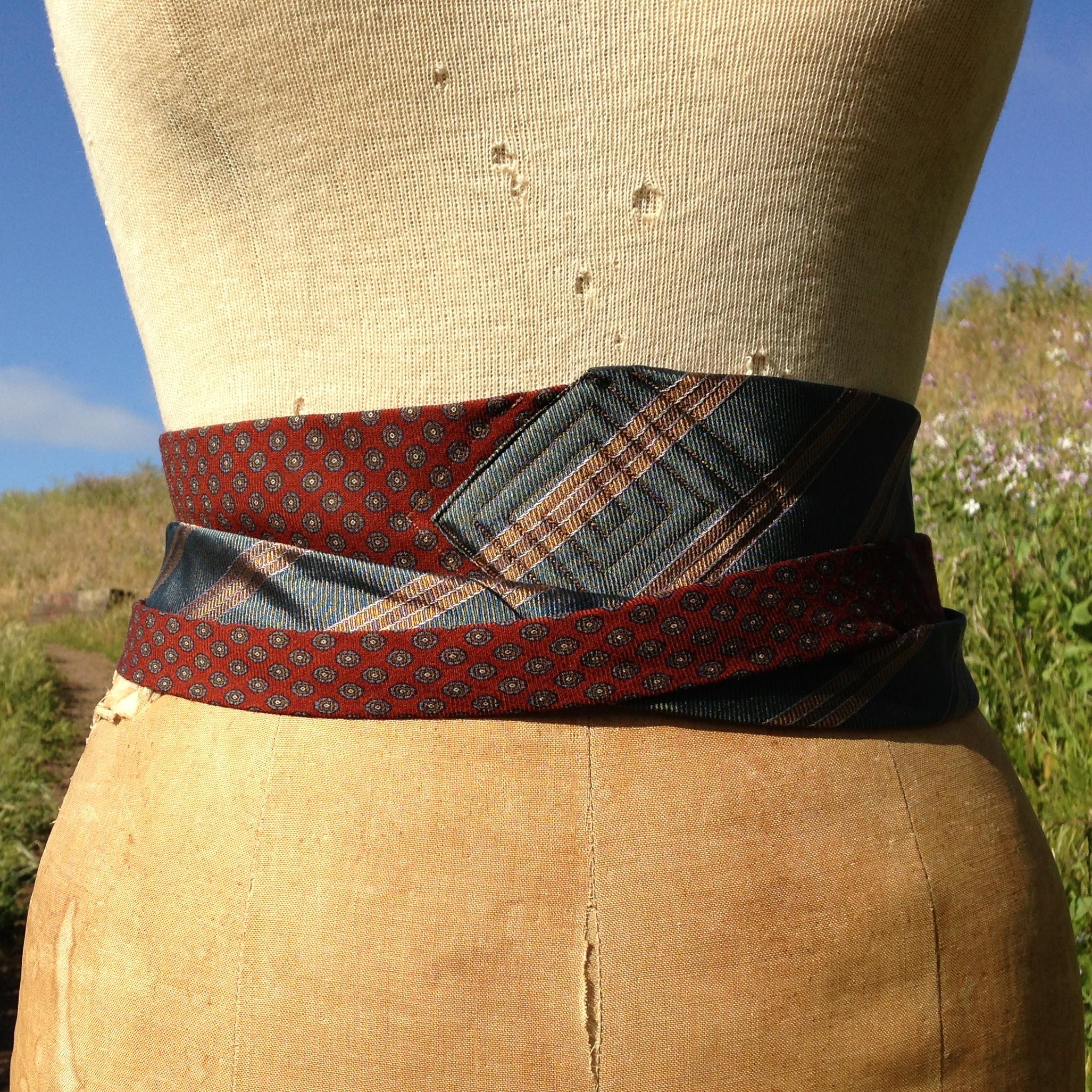 e.b.friday necktie obi. cummerbund wrap.