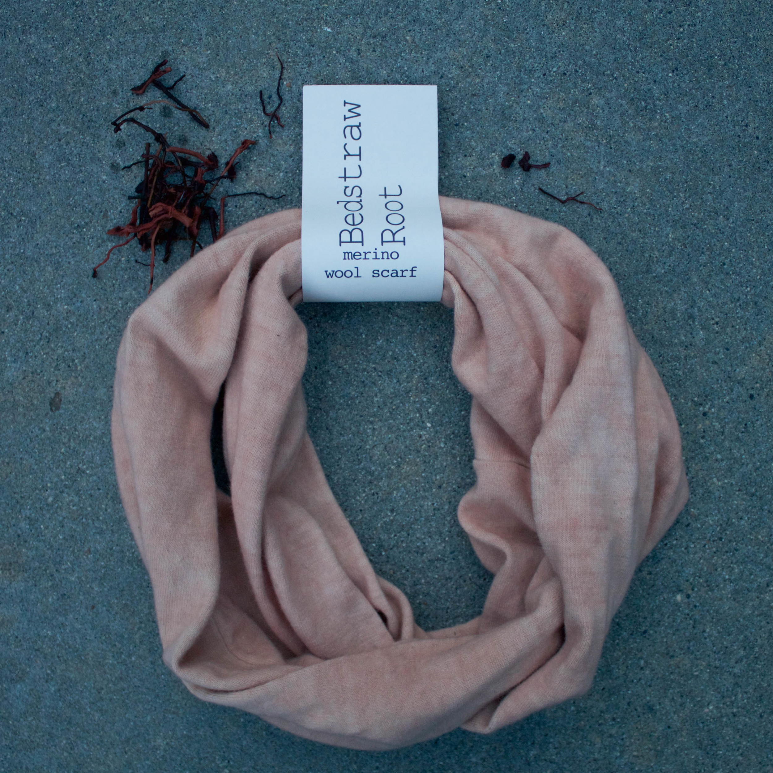 Naturally Dyed Wool Scarf // Bedstraw Root  // $65