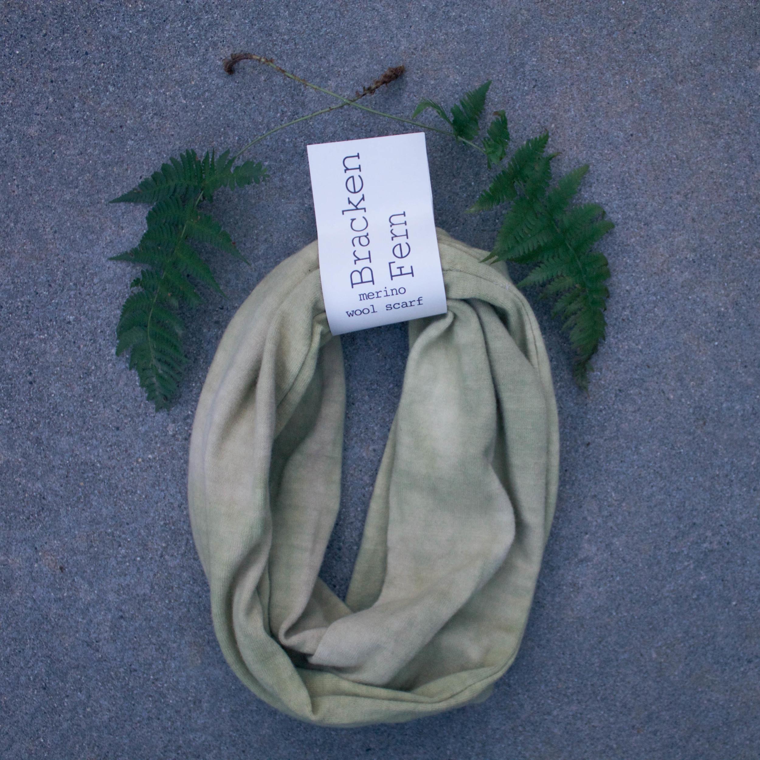 Naturally Dyed Wool Scarf // Bracken Fern // $65