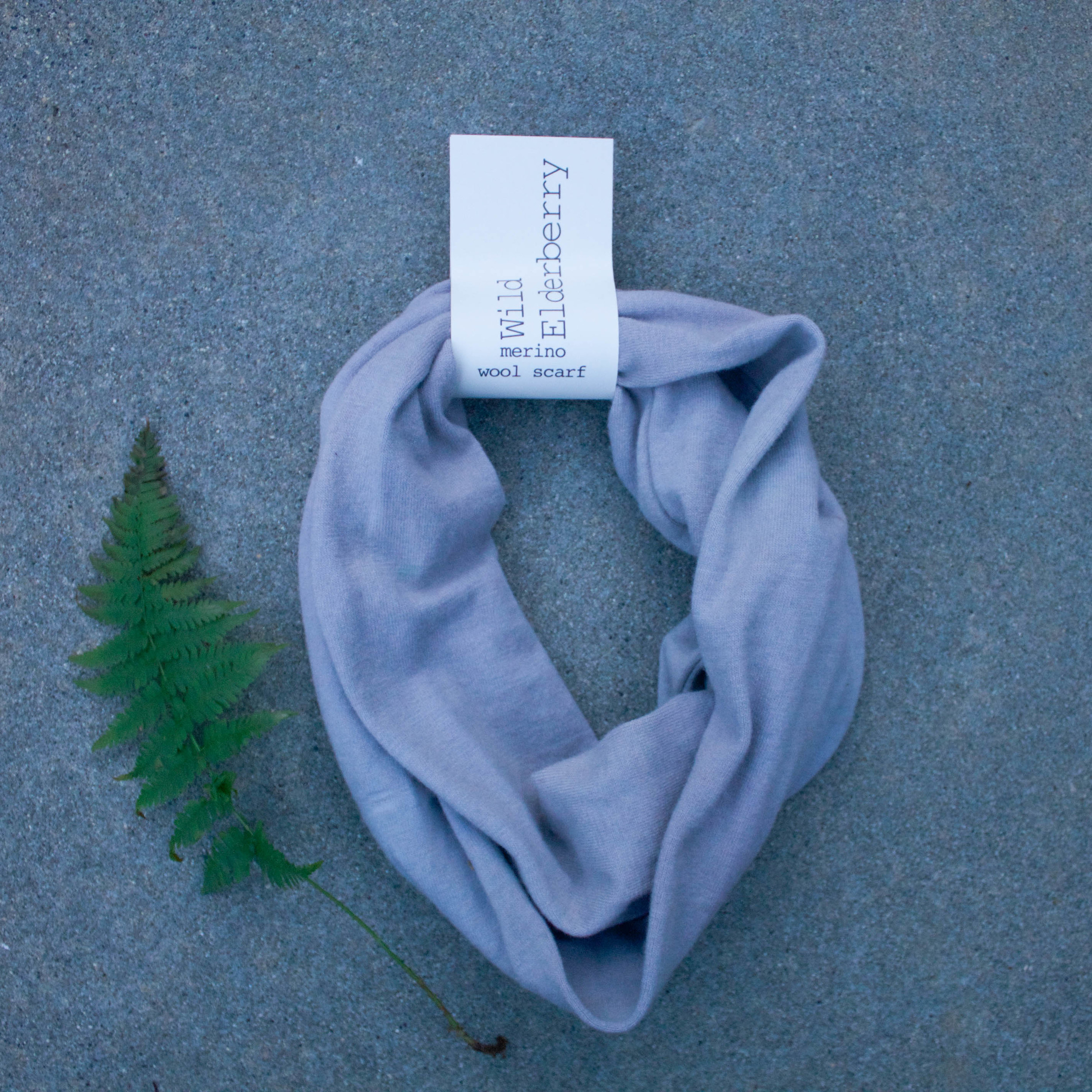 Naturally Dyed Wool Scarf // Wild Elderberry  // $65