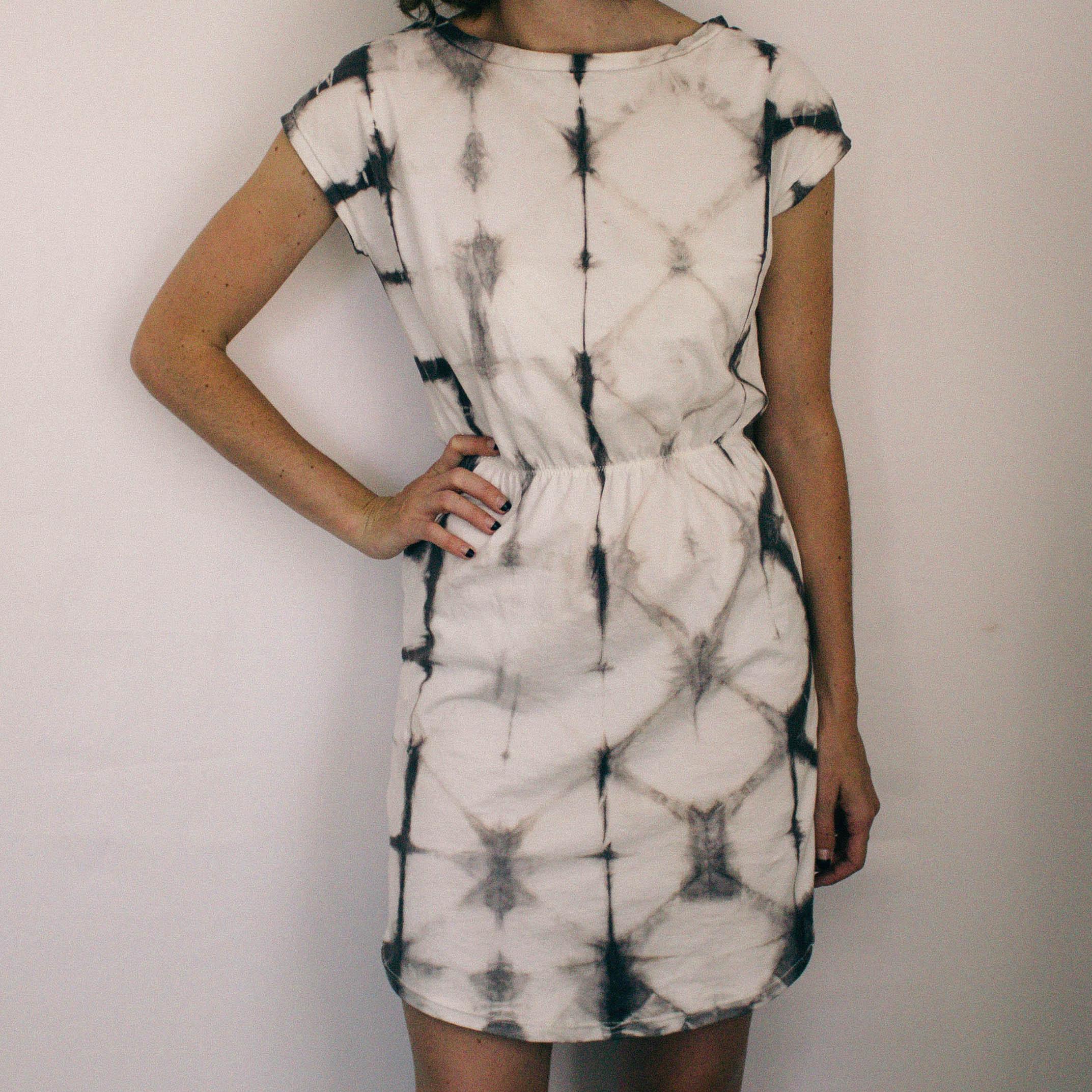 Organic Shibori Shirtdress // Natural Acorn Dye // $68