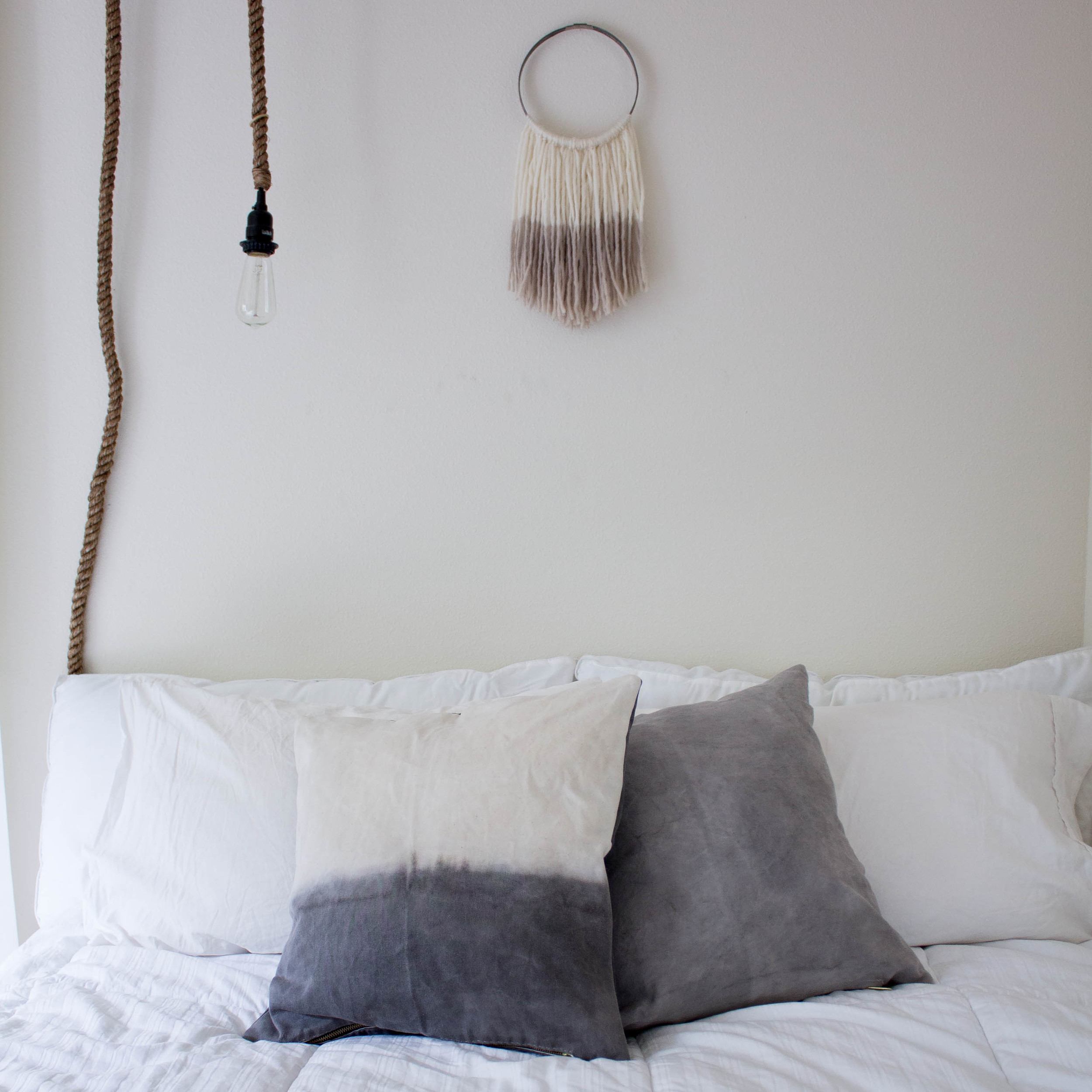 Natural Acorn Dye // Organic Waxed Canvas Pillow // $149