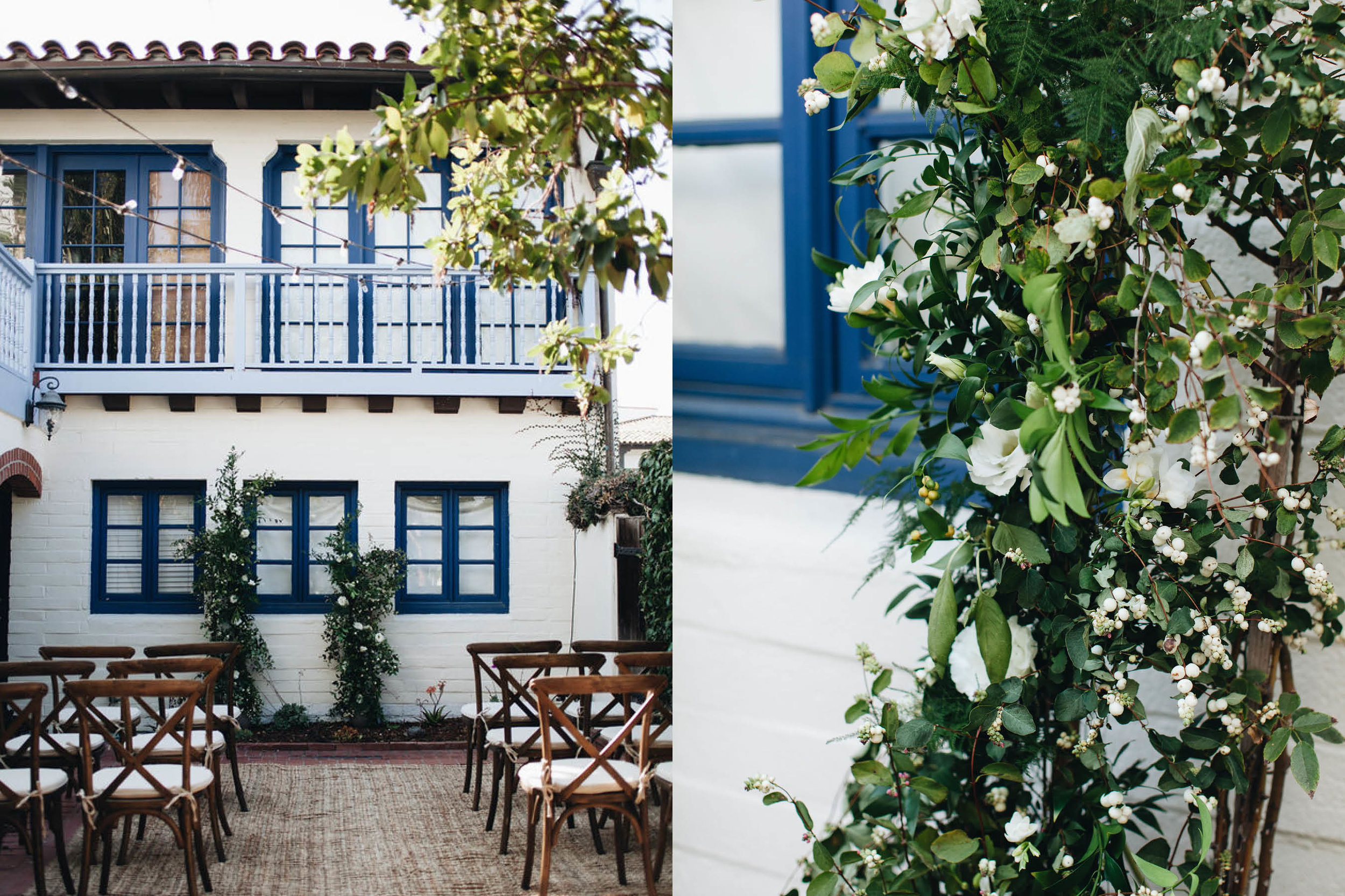 santa-barbara-elopement-wedding-planner-planning-coordination-day-of-coordinator-downtown-garden-oasis-float-spa-fountain-blue-white-event-design-vintage-china (14).jpg