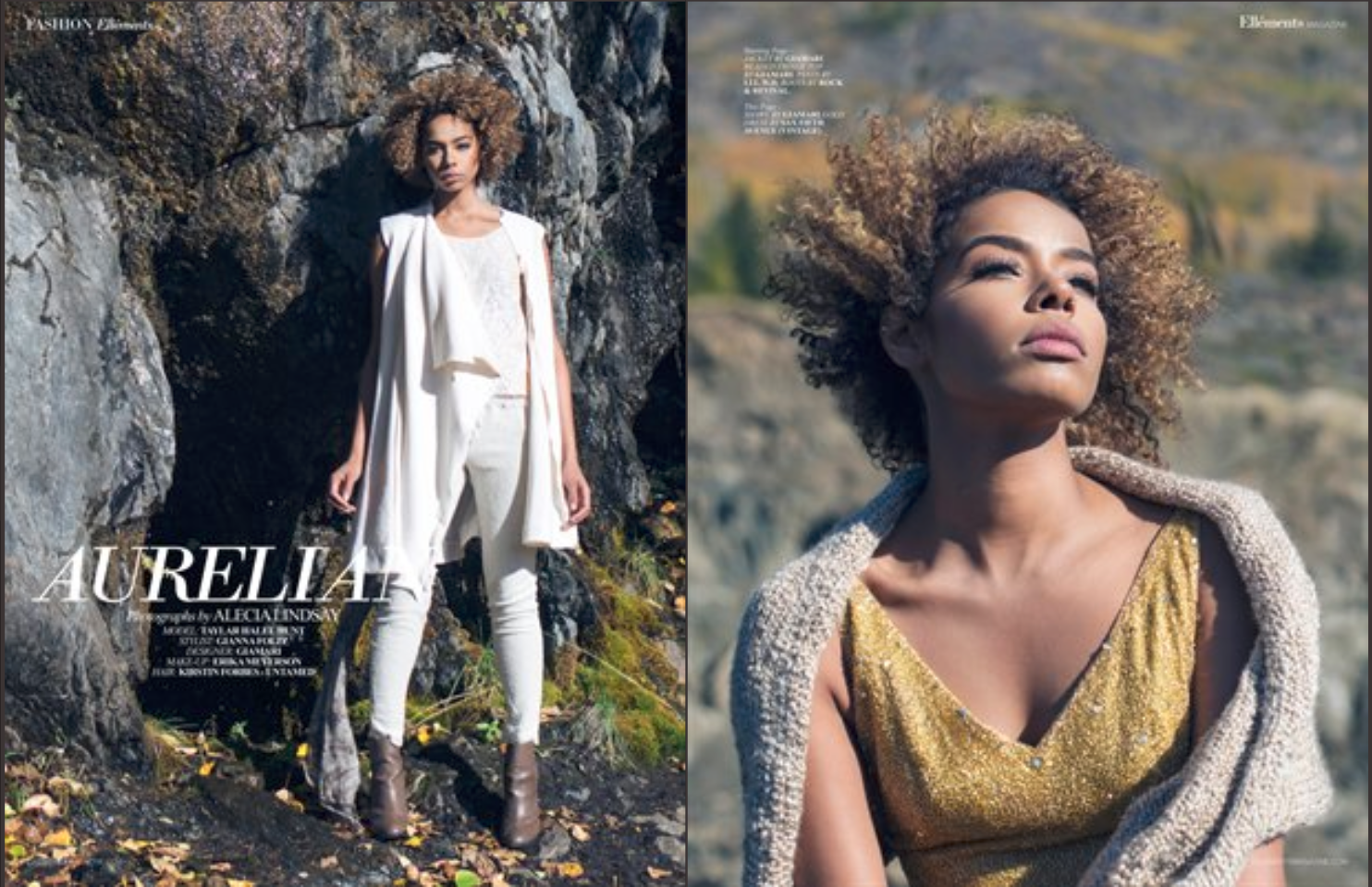 Ellements Magazine, fashion photography by Seattle based Photographer.