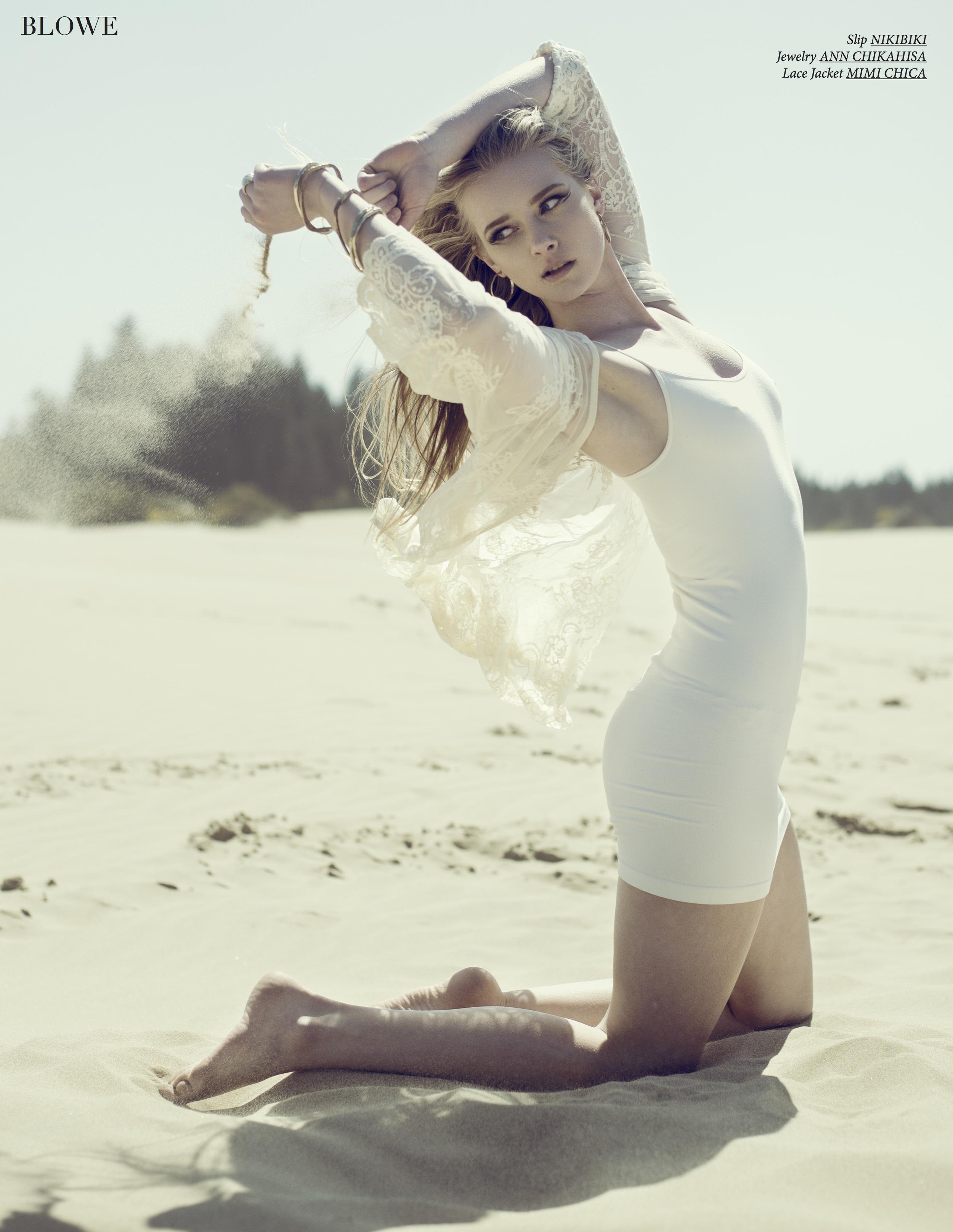 Blowe magazine editorial by fashion photographer Alecia Lindsay