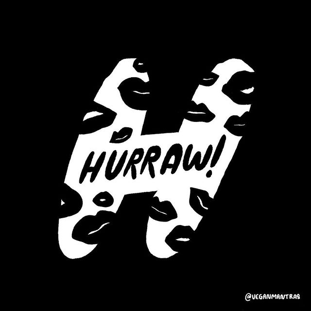 H is for Hurraw! 💋 @hurrawbalm makes vegan, cruelty-free lip balms that are some of my favourites. If you know me I usually have one in my coat pocket every day. #veg #vegan #36days_h #36daysoftype #lettering #handlettering #veganbeauty #cosmetics #vegansofig #vegansofinstagram #veganmantras #veganlettering #lipbalm #hurraw