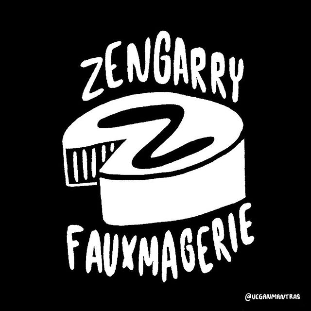 Z is for Zengarry Fauxmagerie 🧀 and the end of this year's #36daysoftype for me. @zengarryveg is a local Ontario cheesemaker who put a lot of love and care into their handcrafted cashew cheese 😍 #veg #vegan #vegansofinsta #vegansofinstagram #veganeats #vegancheese #zengarry #36days_z #lettering #veganlettering #handlettering #letteringchallenge