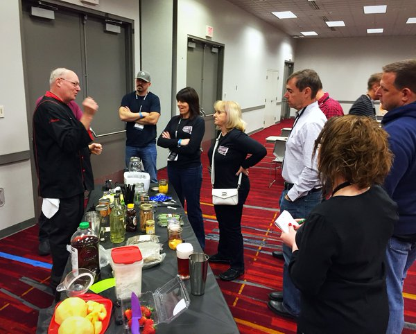 Roy Porter teaching Sonic Mixology with the Flavor Reactor to attendees