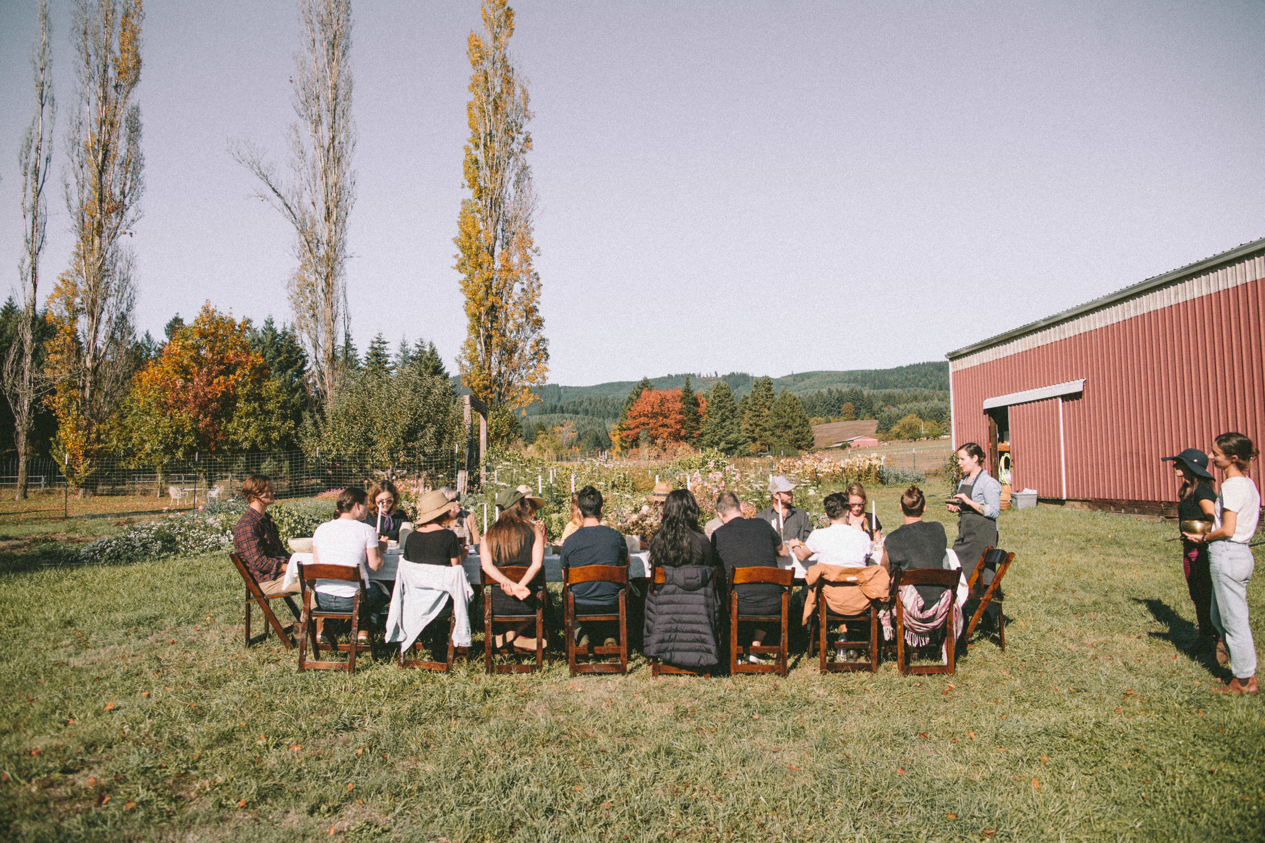 Lunch on the Farm durning our Fall Workshop.