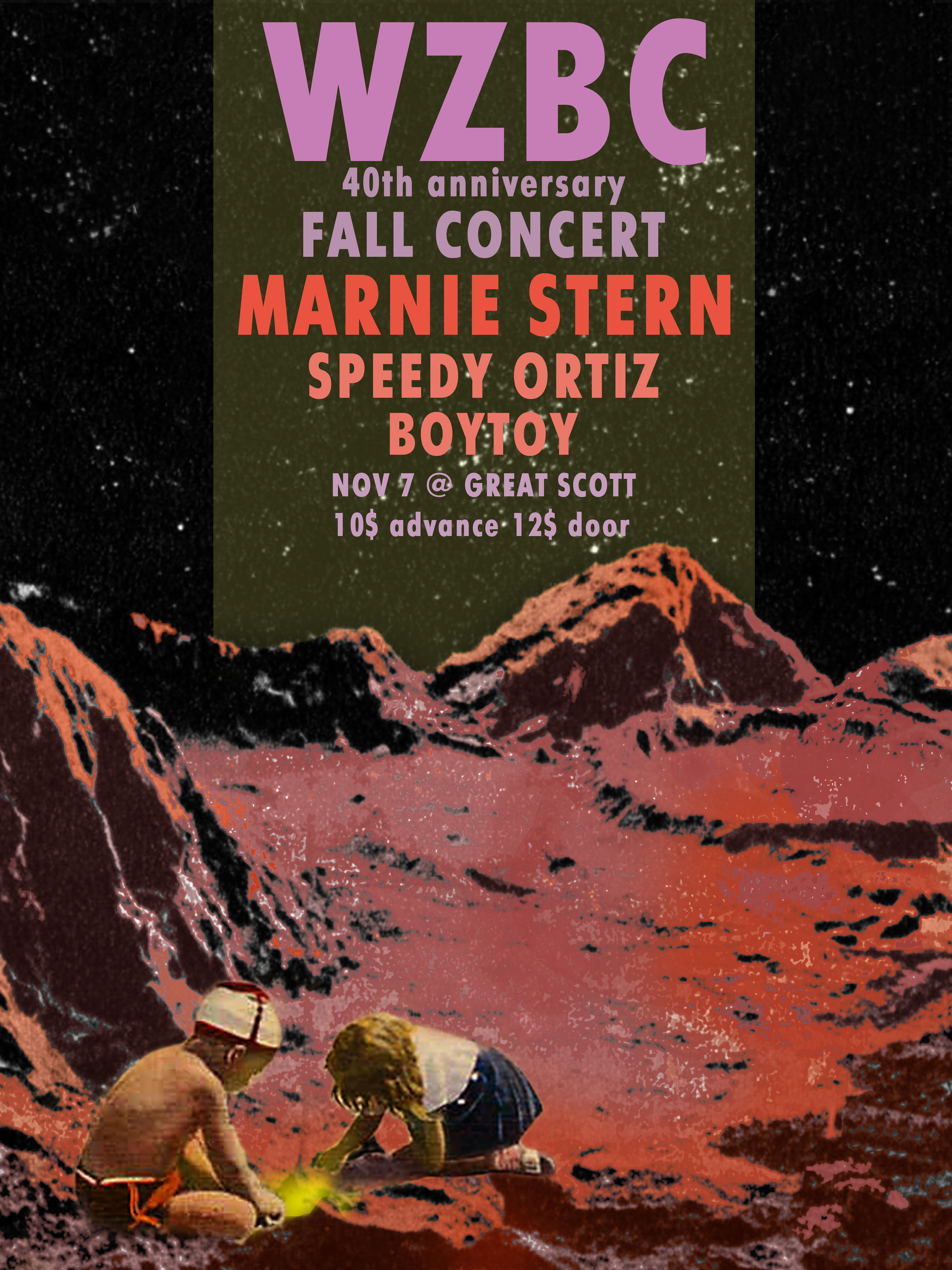 WZBC Fall 2013 Concert Poster