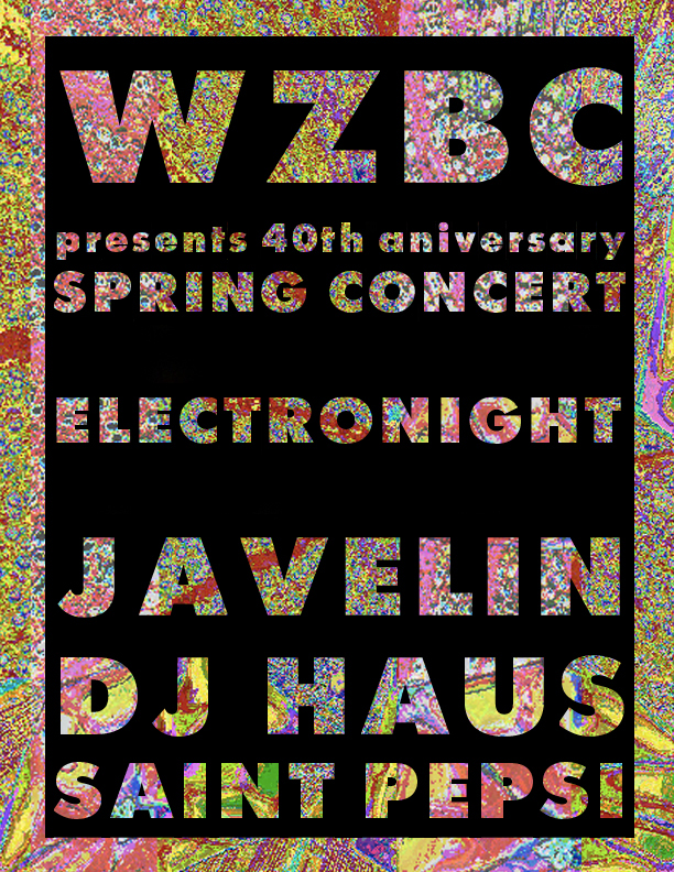 WZBC Spring 2013 Concert Poster 1
