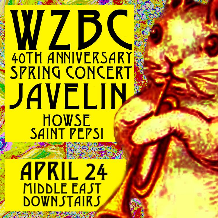 WZBC Spring 2013 Concert Sticker