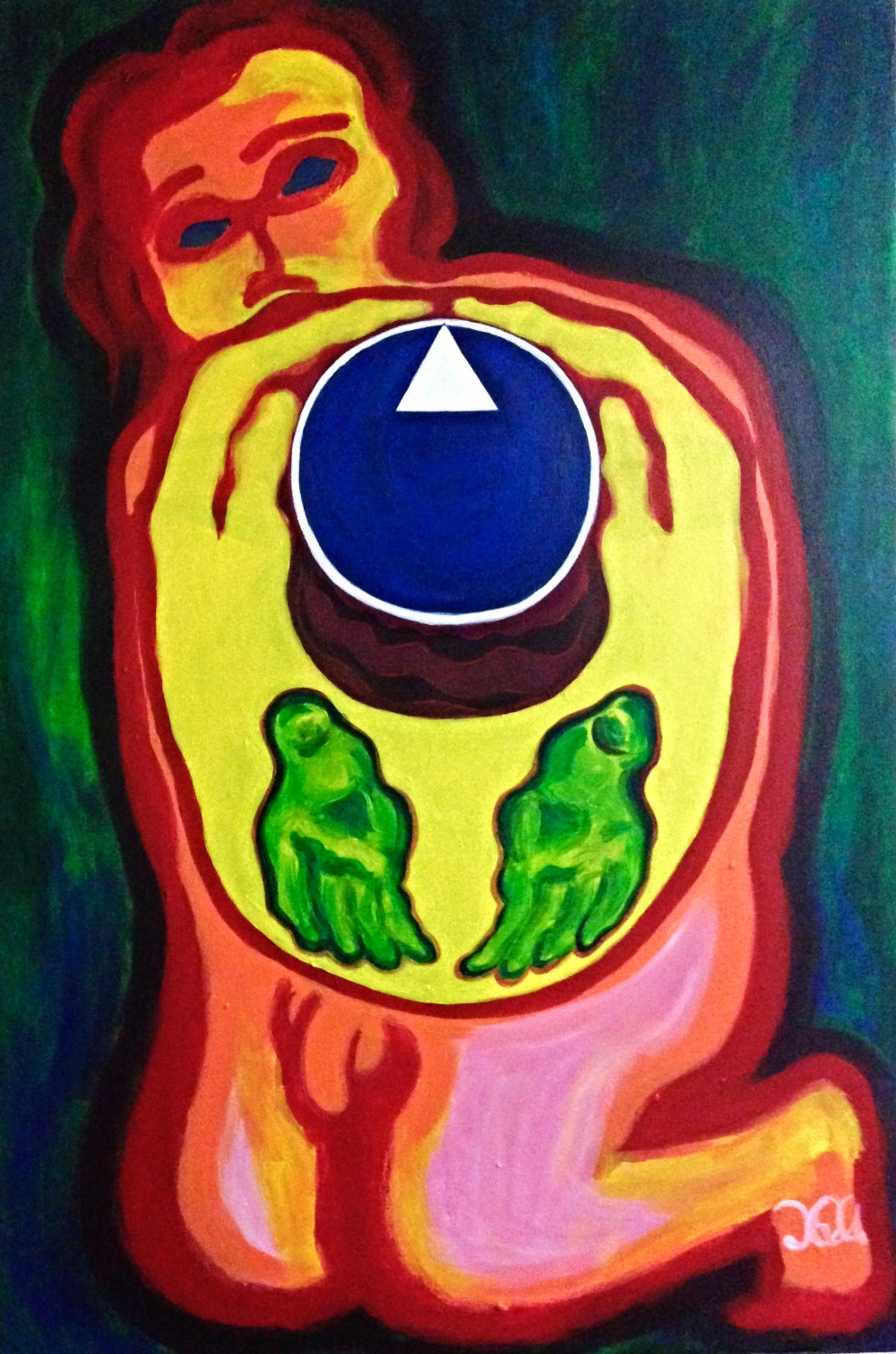 Crown  Acrylic on Canvas,February 2016