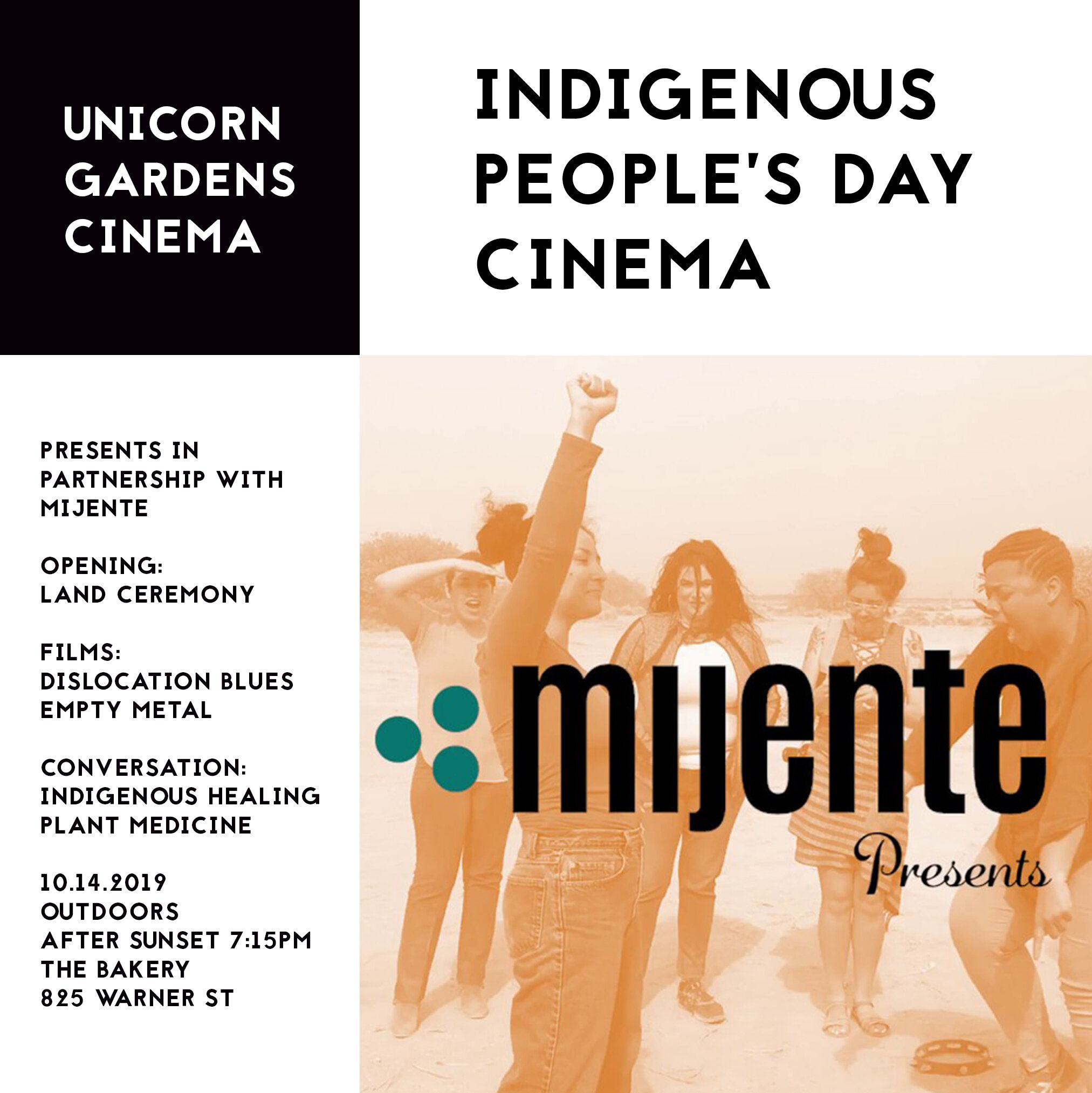 Indigenous People's Day Cinema - Oct 14, 2019
