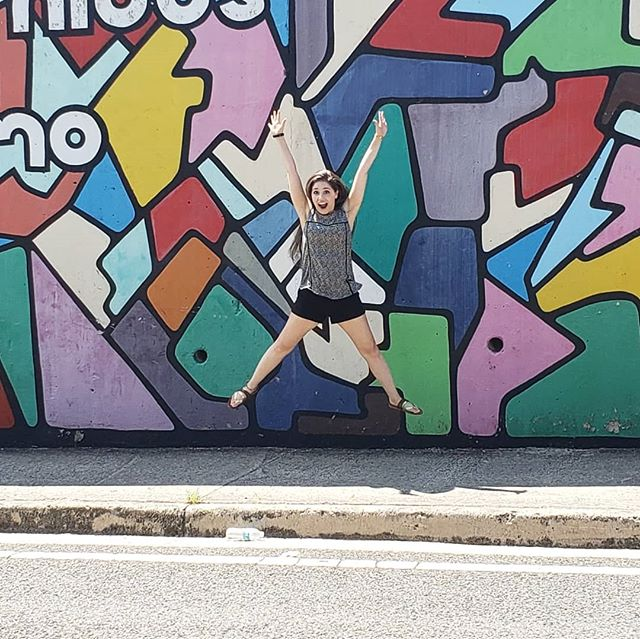 Picture 1. Excitement level=🔥 Picture 2. Nice vs. Priceless.  #enjoy  #mural #PuertoRico #colors #jump #photooftheday #priceless #fail #musician #singer #Israel