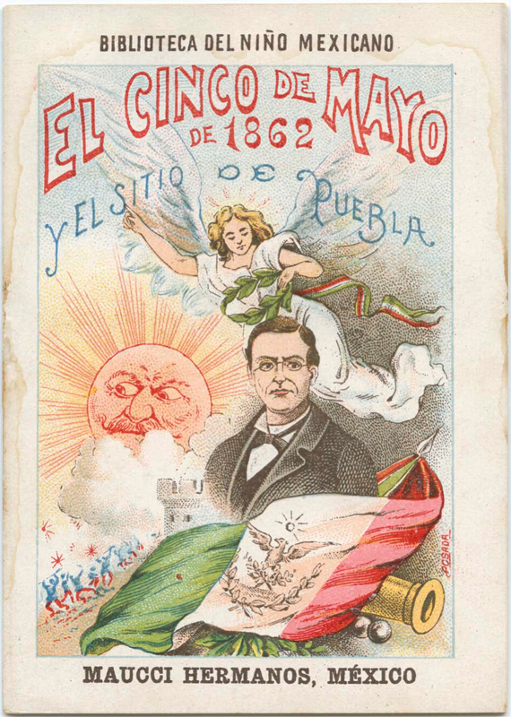 A poster for a 1901 Cinco de Mayo celebration, used to teach about the history of Mexico