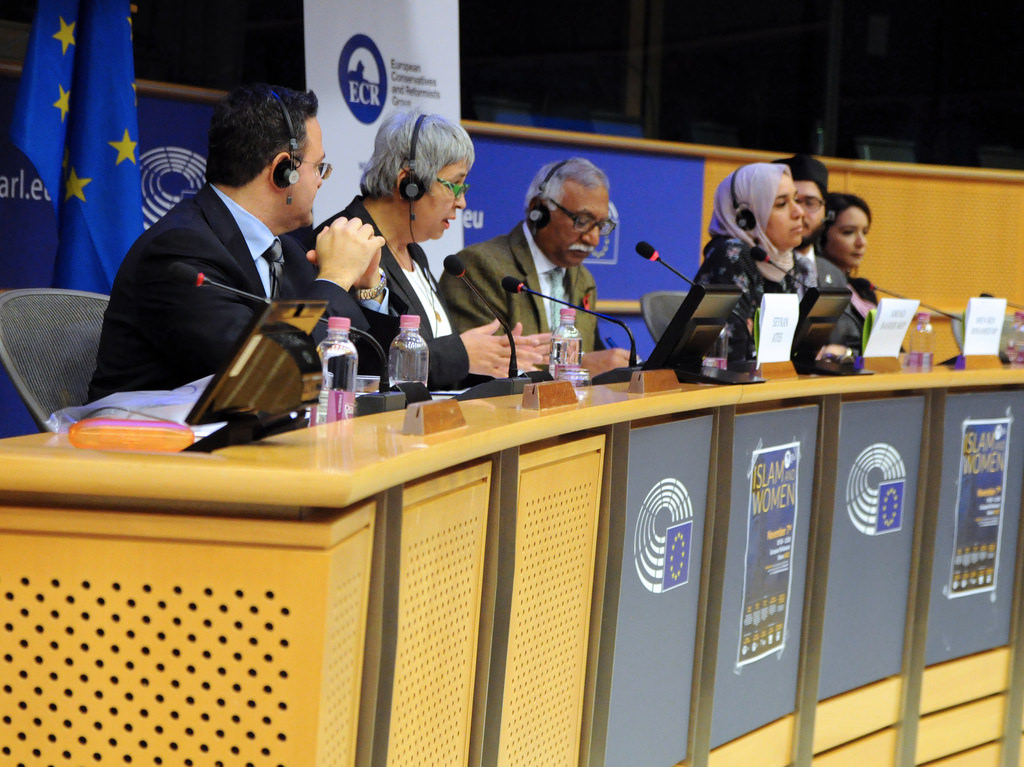 Islam & Women Event by MEP Amjad Bashir - Nov. 7, 2017, Seyran Ates is in the green glasses. She is a lawyer and founder of Germany's first liberal mosque