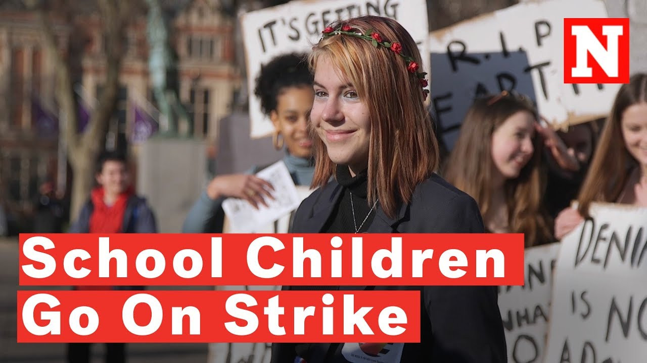 Image from Newsweek's YouTube emission: The School Students On Strike To Stop Climate Change. Click image to view.