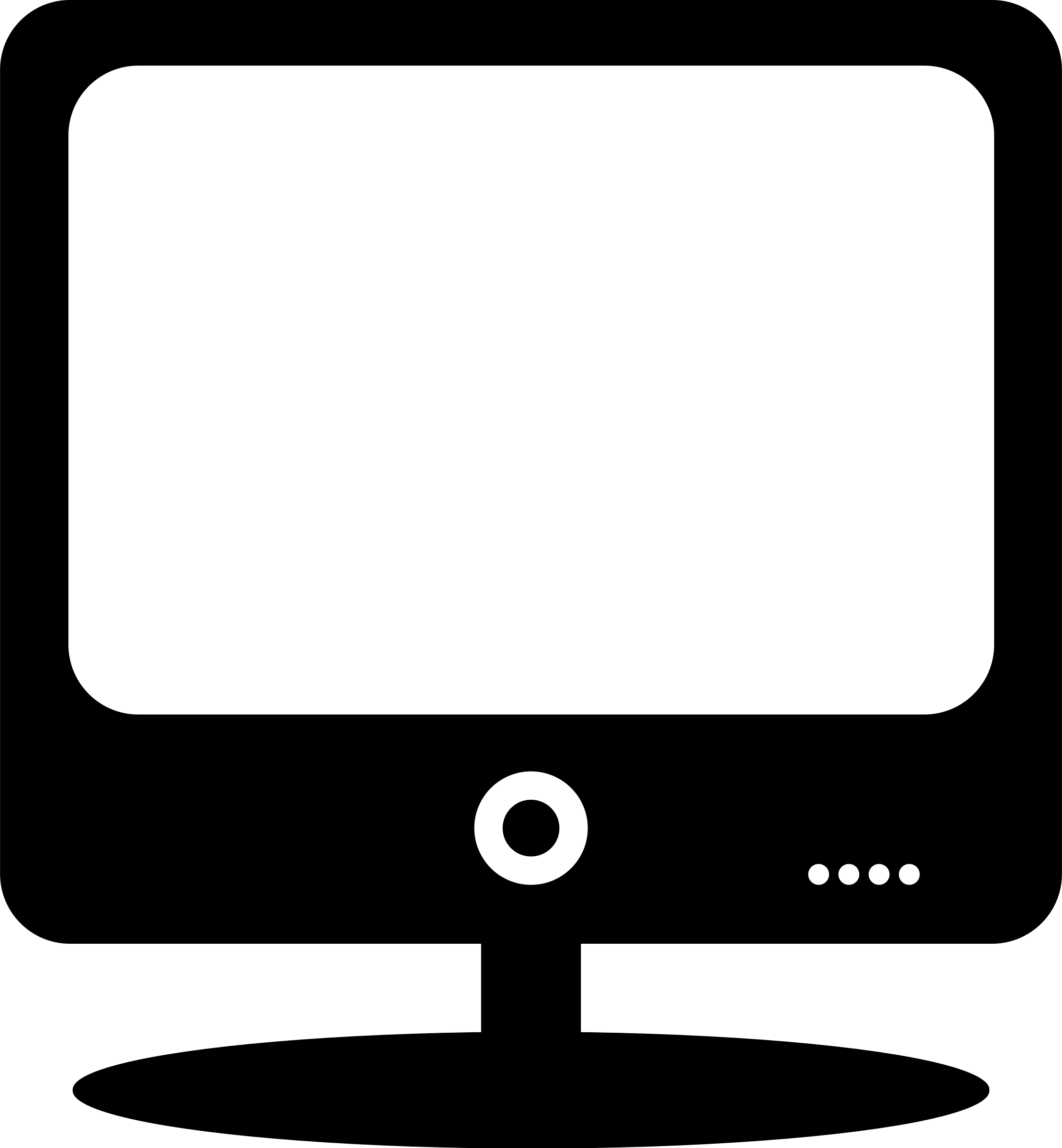 Computer Monitor Clipart Black And White 02.png
