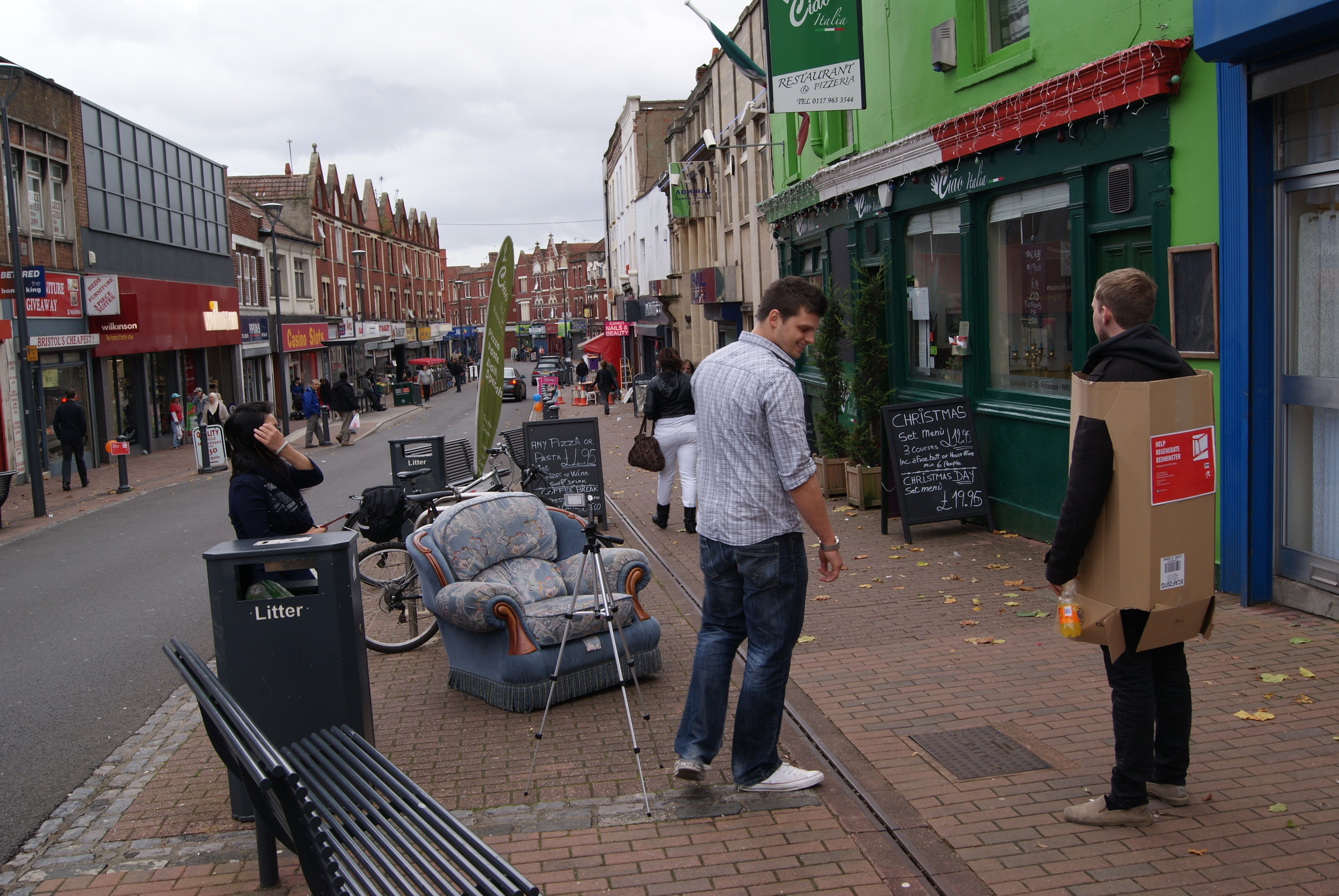 UWE MArch students use street interventions to connect with the community.