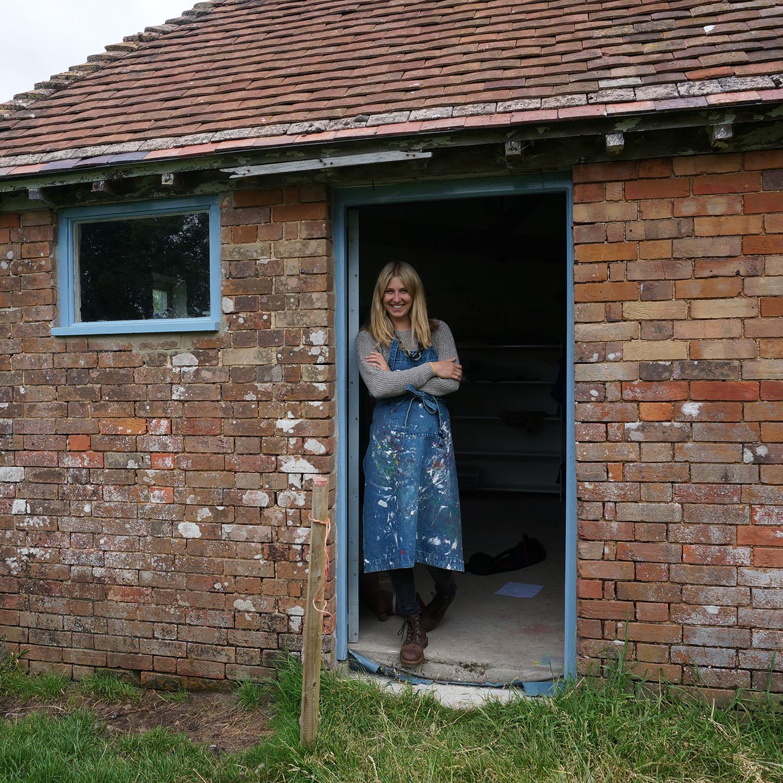 Jenny Sibthorp in her farm studio
