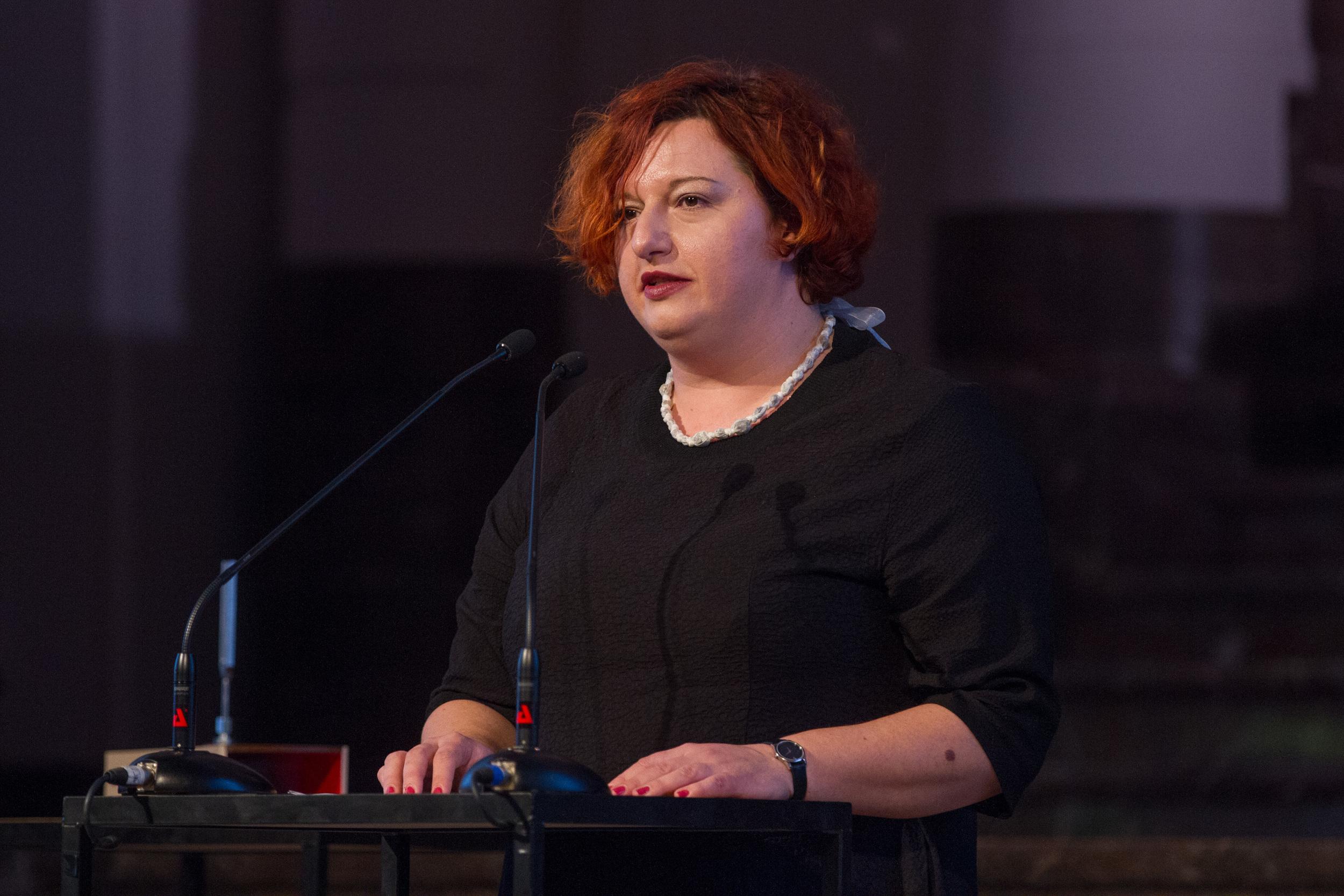 Emina Višnić, director of POGON in Zagreb. Photo ©Xander Remkes