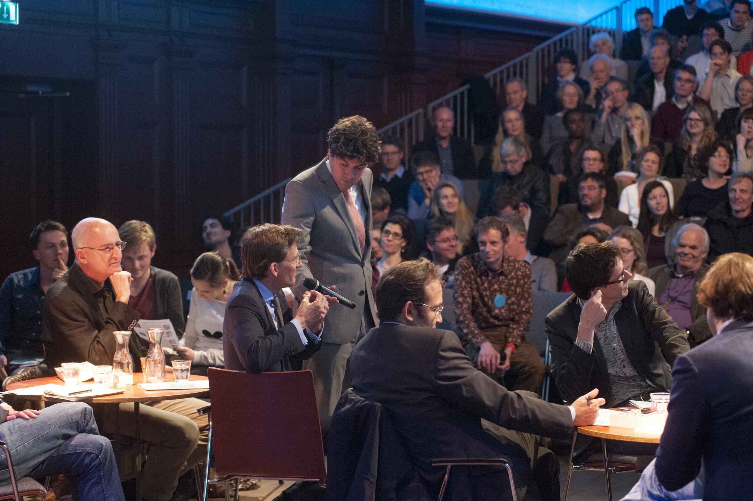 Moderator Lennart Booij and Gerben Jan Gerbrandy ©Jan Boeve
