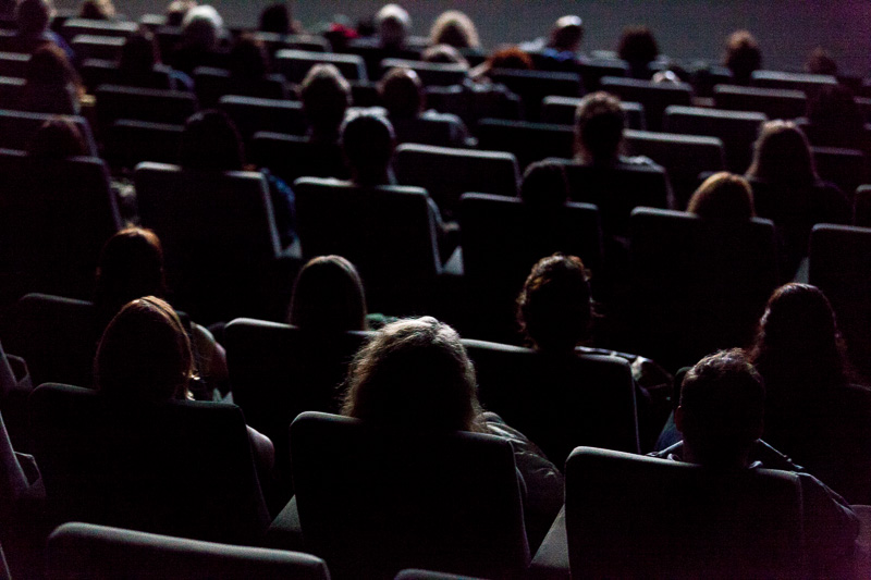 The audience at  €urovisions live cinema performance. Photo ©Xander Remkes