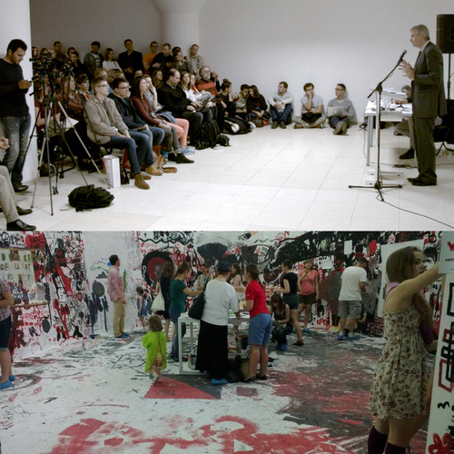 New opening of Visual Culture Research Center, lecture by Timothy Snyder, Kiev, 18 October 2014;Draftsmen's Congress at the National Art Museum of Ukraine, Kiev, 18 May - 8 June 2013.