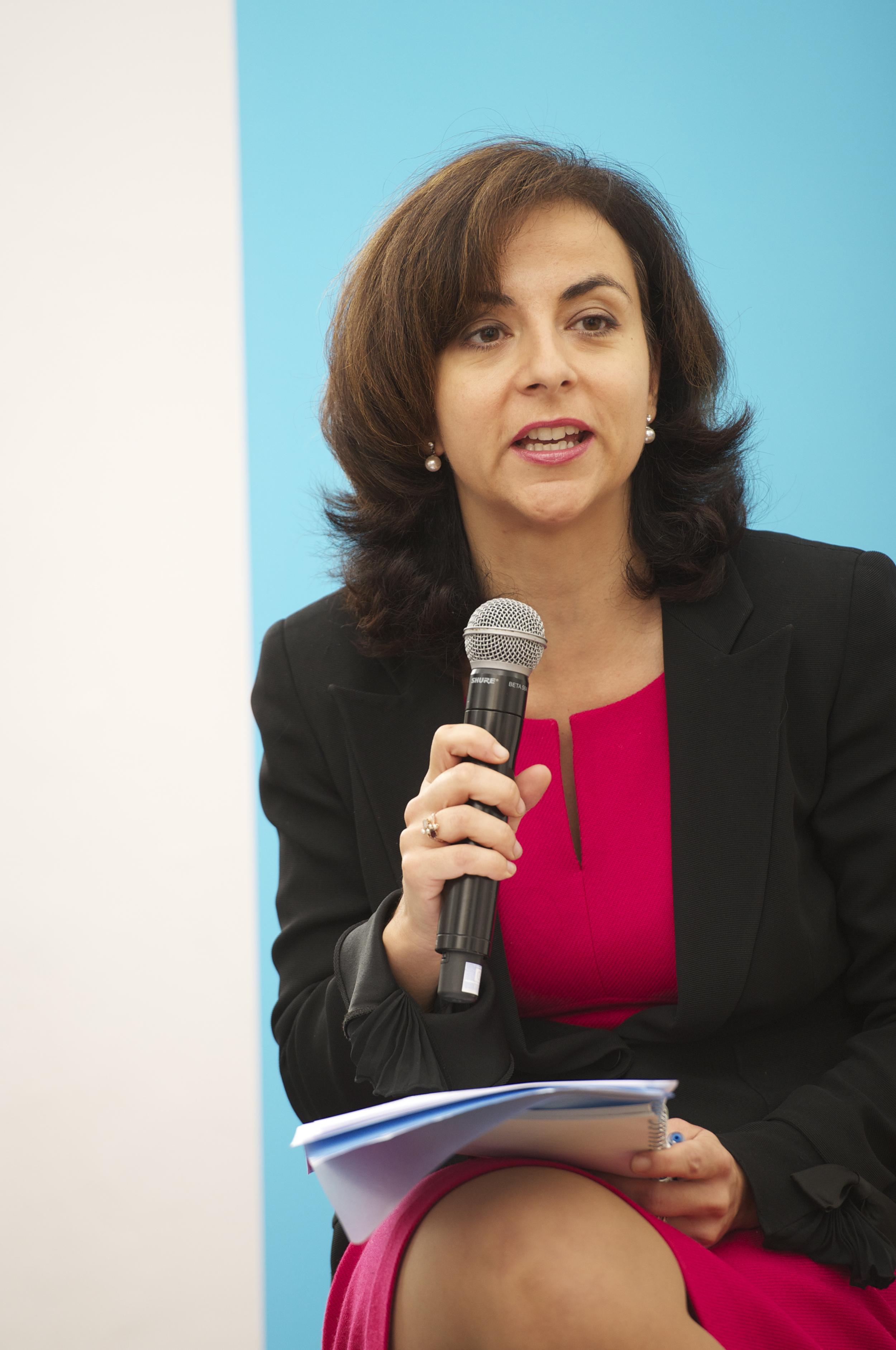 Vanessa Mock at theHistoric Speech debate at BOZAR.Photo ©Yves Gervais