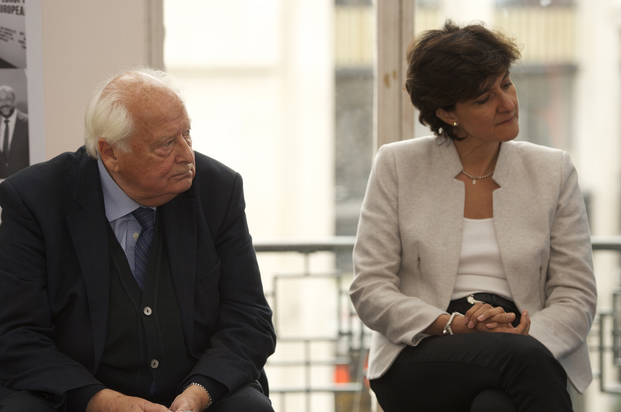 Raymond Georis and Sylvie Goulard at theHistoric Speech debate at BOZAR.Photo ©Yves Gervais