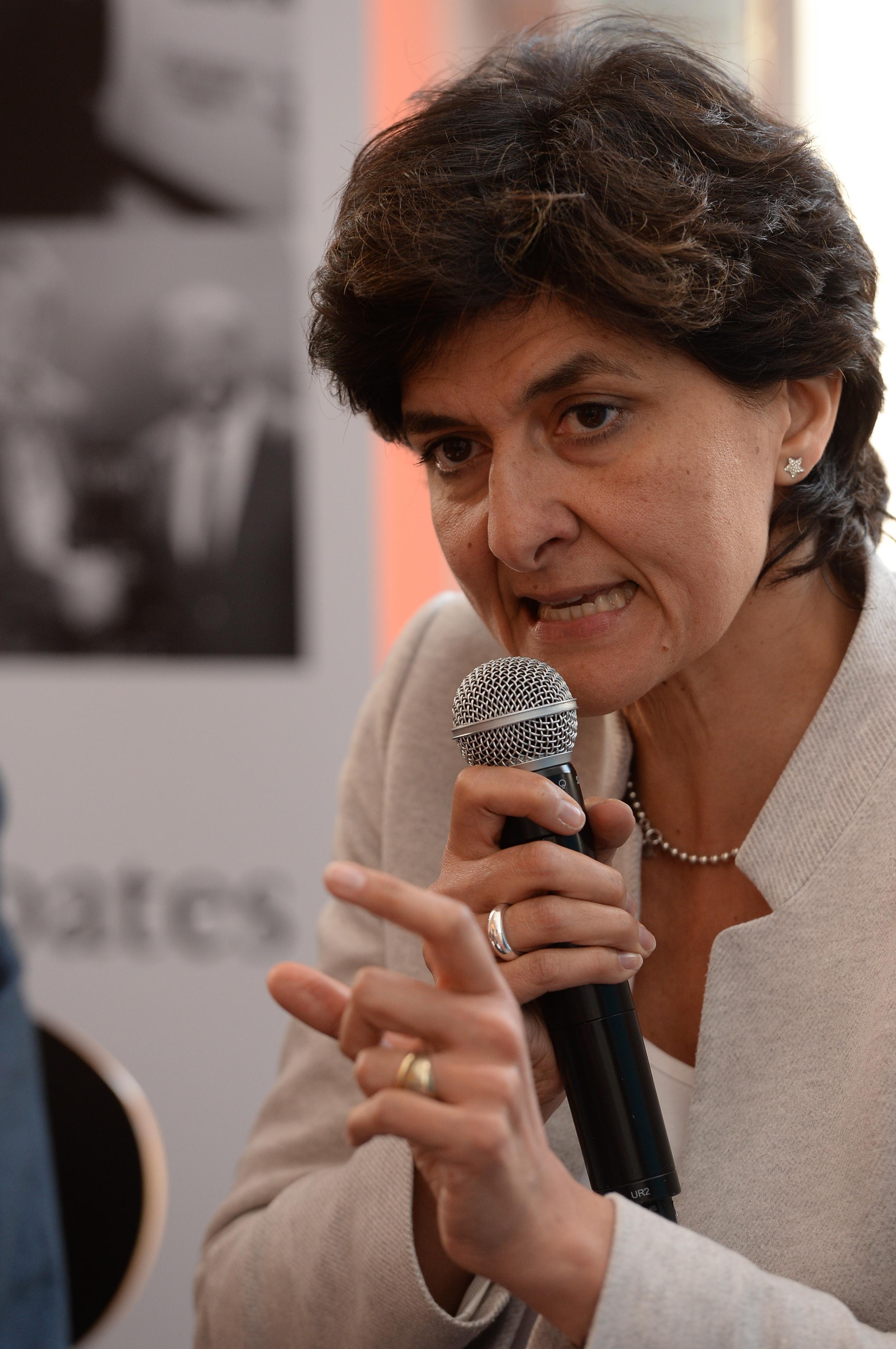 Sylvie Goulard at the Historic Speech debate at BOZAR.Photo ©Yves Gervais