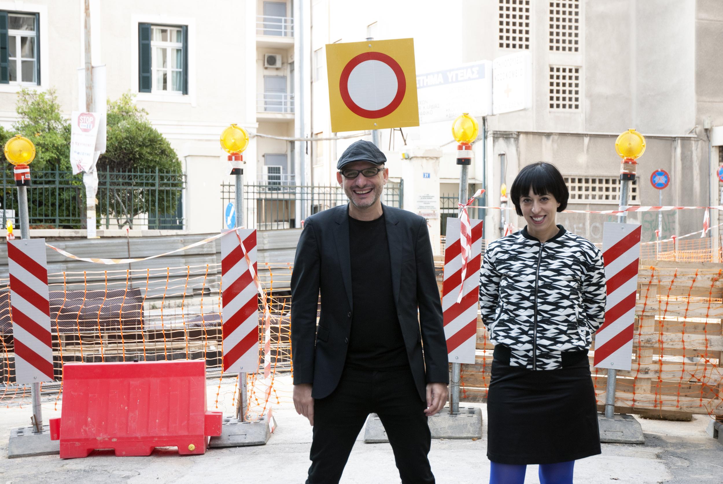 Athens Biennale co-founders Poka-Yio & Xenia Kalpaktsoglou.Photo ©Spyros Staveris