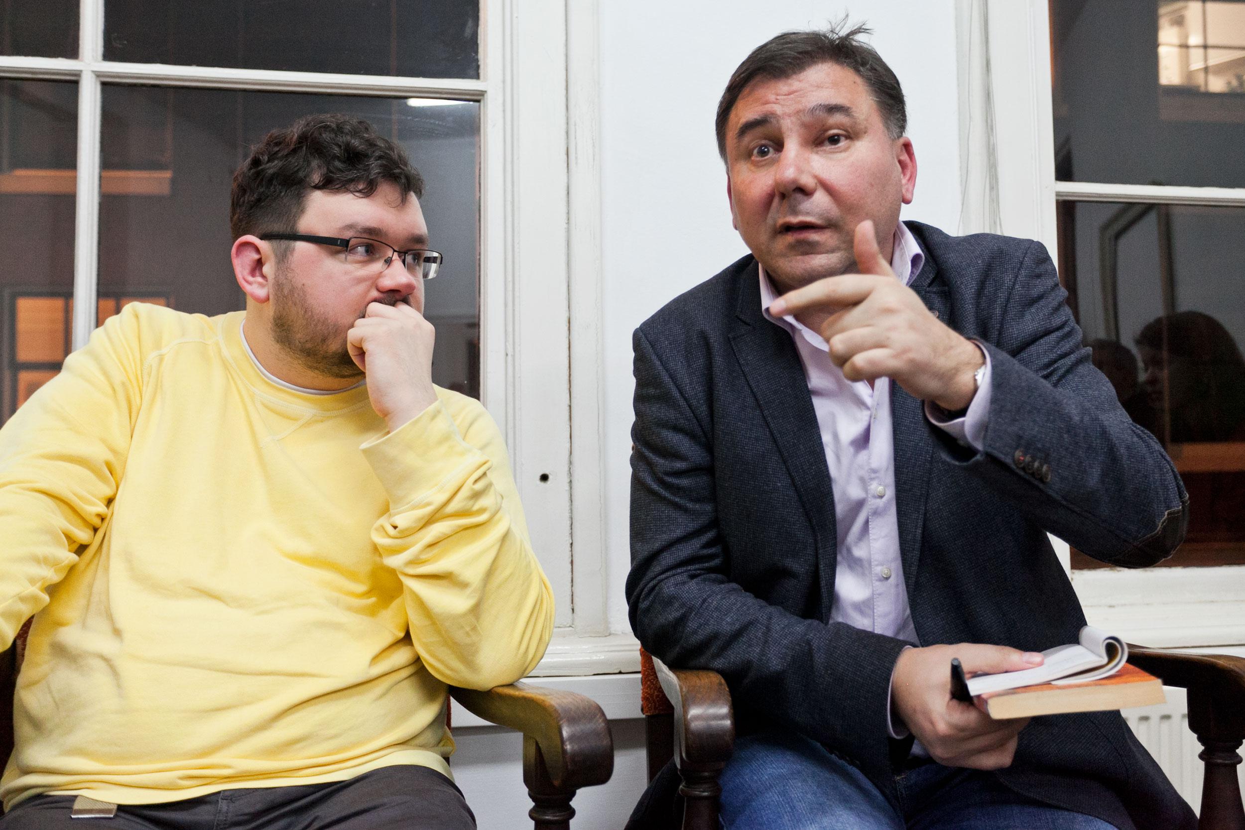 Mykhailo Glubokyi and Ivan Krastev. Photo by Pip Erken.