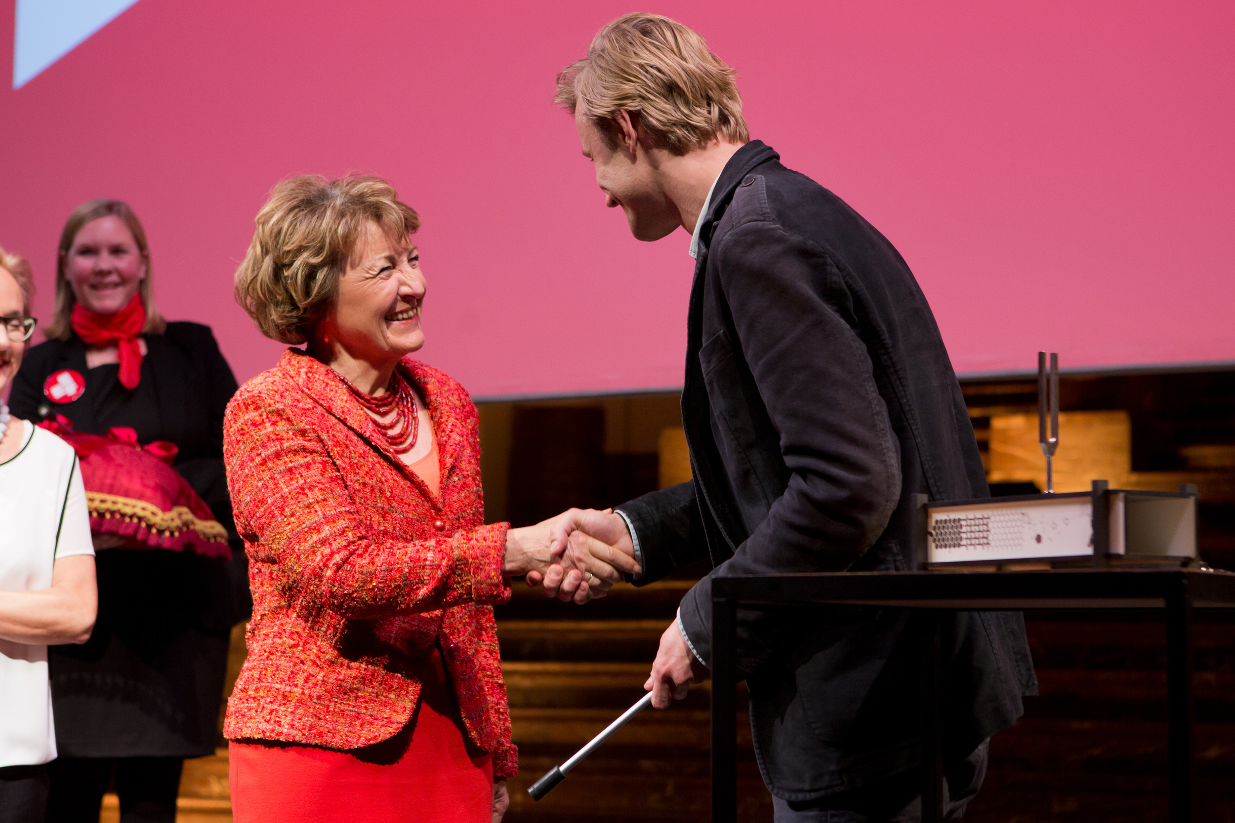 HRH Princess Margriet of the Netherlands and VasylCherepanyn.Photo Maarten van Haaff