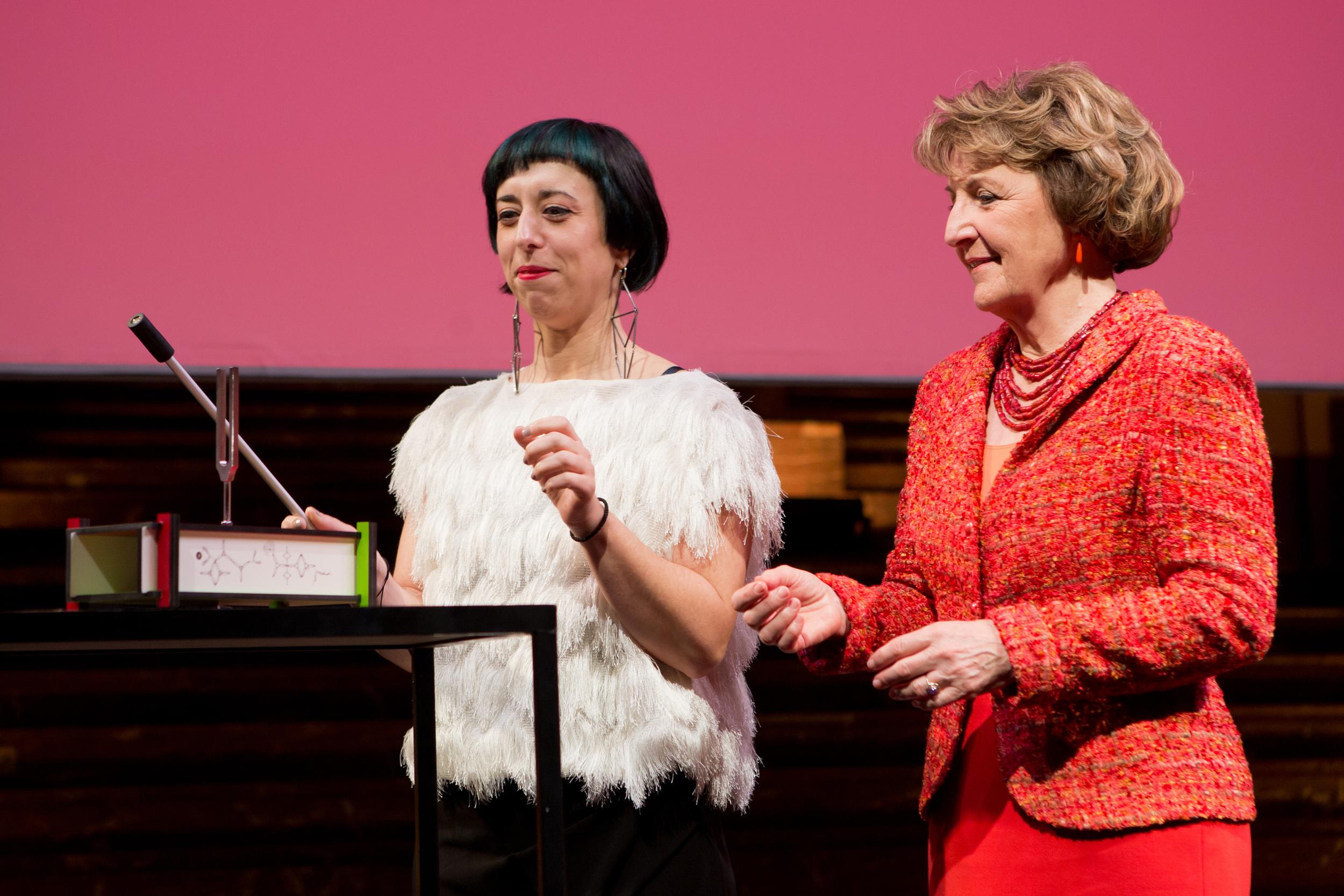 Xenia Kalpaktsoglou and HRH Princess Margriet of the Netherlands.Photo Maarten van Haaff.