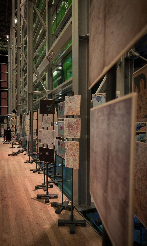 The European maps exhibition    ofUrbo Kune at Muziekgebouw aan 't IJ . Photo by Canan Marasligil