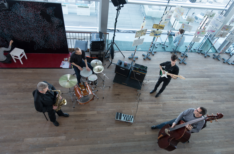 Klangforum Wien playing during Urbo Kuneat Muziekgebouw aan 't IJ. Photo by Canan Marasligil