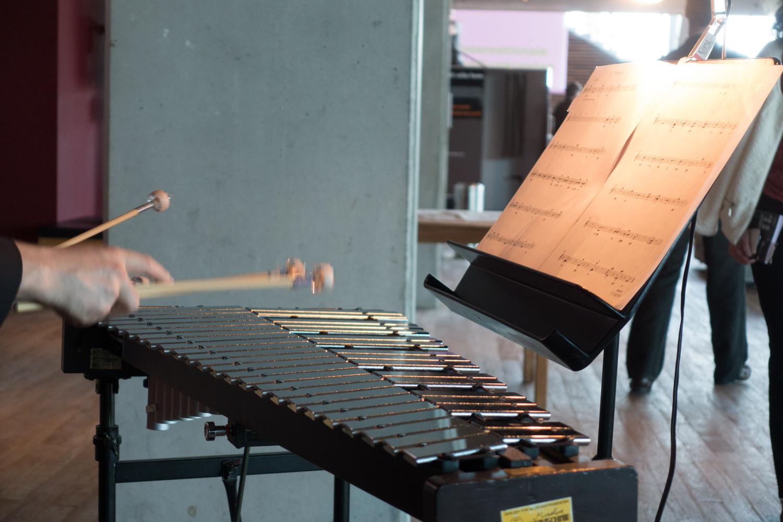 One of the many musical happening by Klangforum Wienduring Urbo Kune. This piece isquartz für glockenspiel und lautsprecher.  Photo by Canan Marasligil