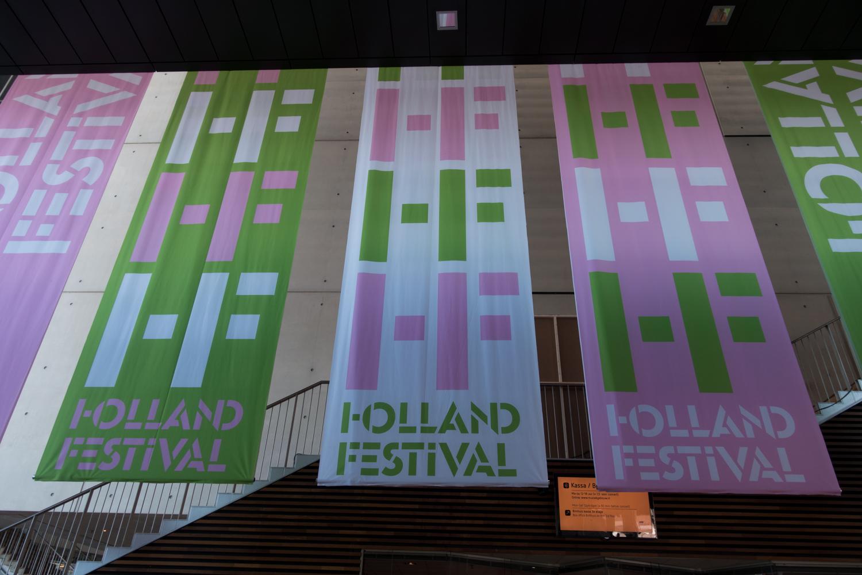 Inside the Muziekgebouw aan 't IJ during the Holland Festival in June 2015. Photo by Canan Marasligil