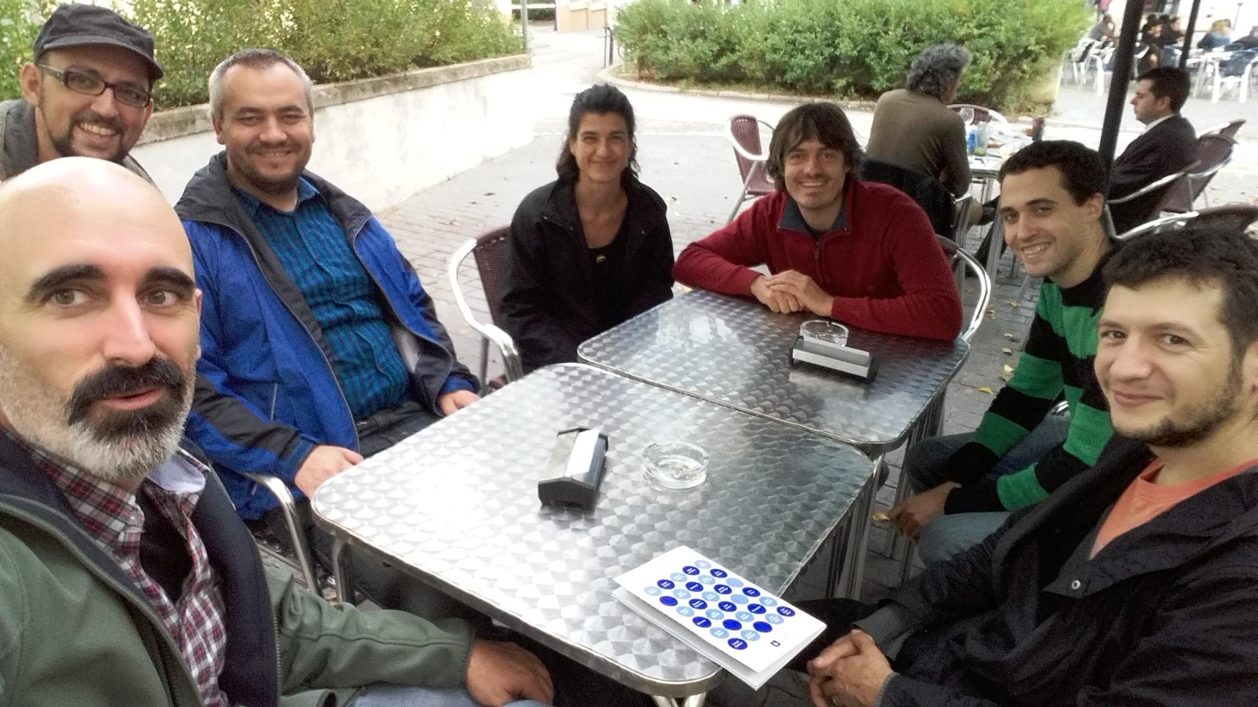 Lunch break between Goteo, Oberliht and Radarq