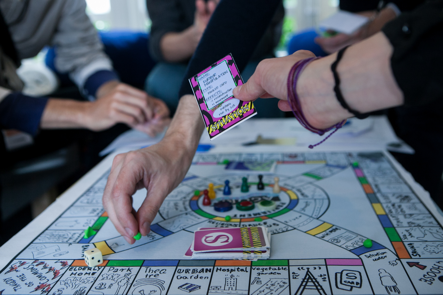 Commonspoly, a hacked version of Monopoly. Photo by Julio Albarrán