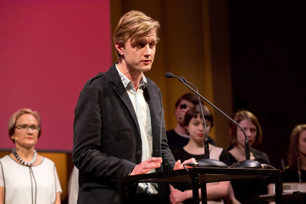 Vasyl Cherepanyn at the 2015 ECF Princess Margriet Award for Culture.Photo by Maarten van Haaff.