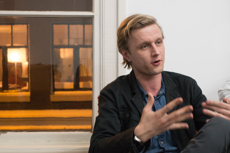 Vasyl Cherepanyn speaking in Amsterdam in February 2015.Photo by Canan Marasligil