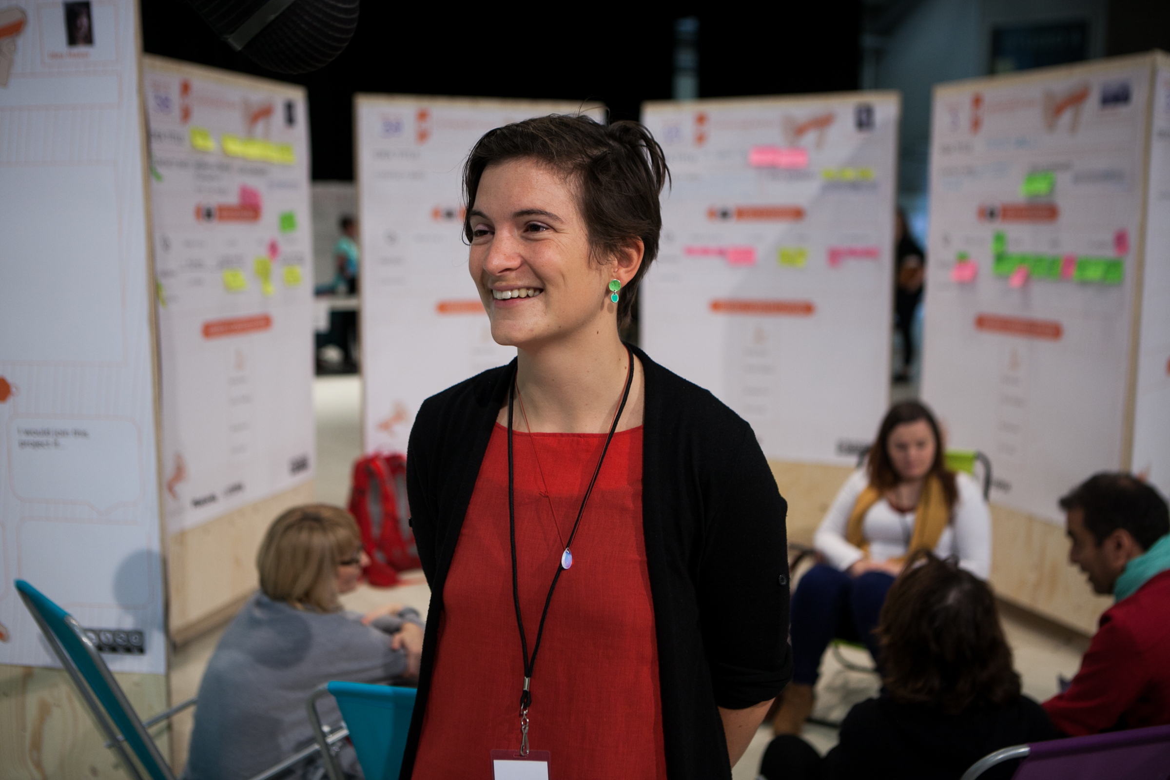 Laura Popplow at the Idea Camp in Sweden, 2015. Photo by Julio Albarrán.