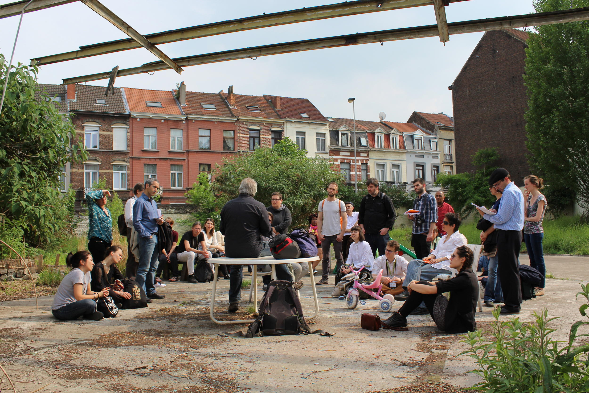 In Brussels during the first European Hub meeting on Community-led Housing