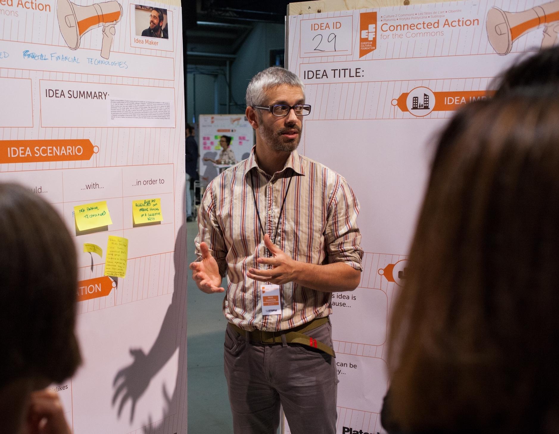 Paul Currion at the Idea Camp 2015. Photo by Julio Albarrán.