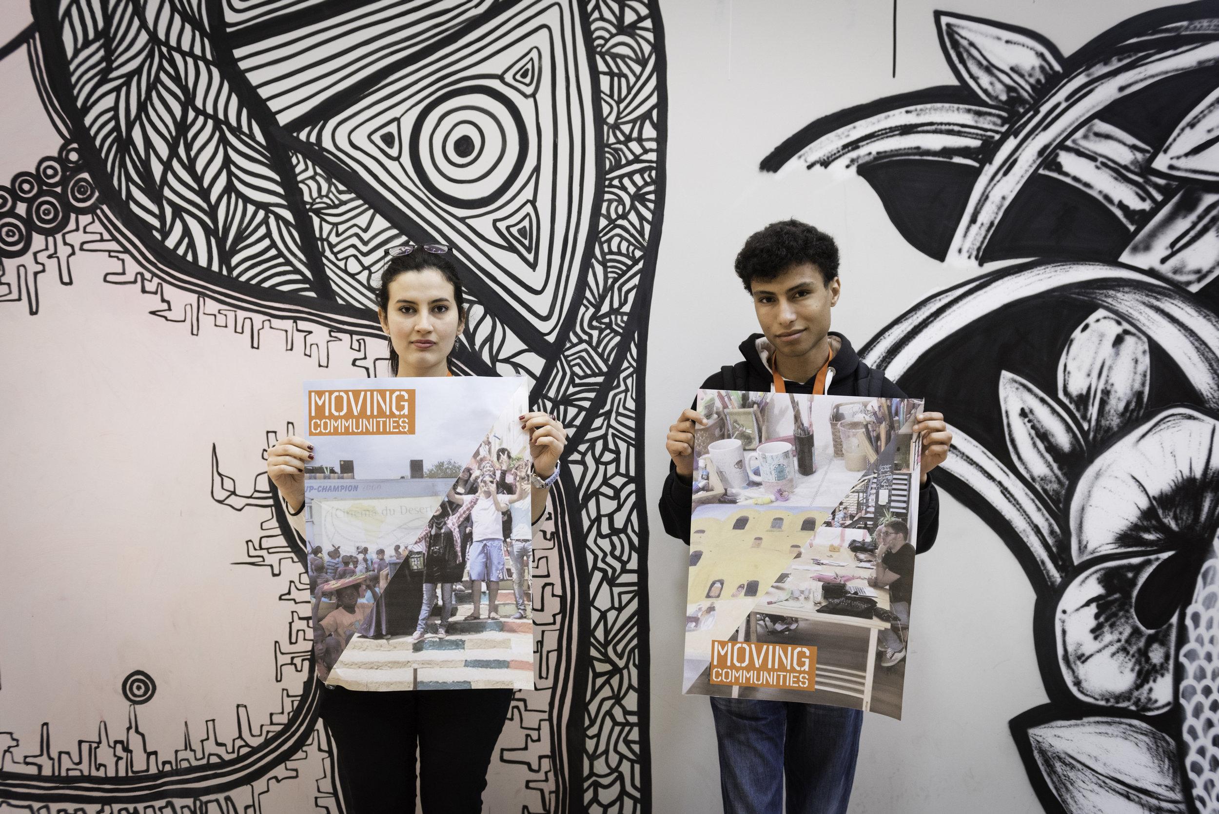 Idea Makers Yosser Belghith and Mondher Tounsi at the Idea Camp 2017. Photo by César Lucas Abreu
