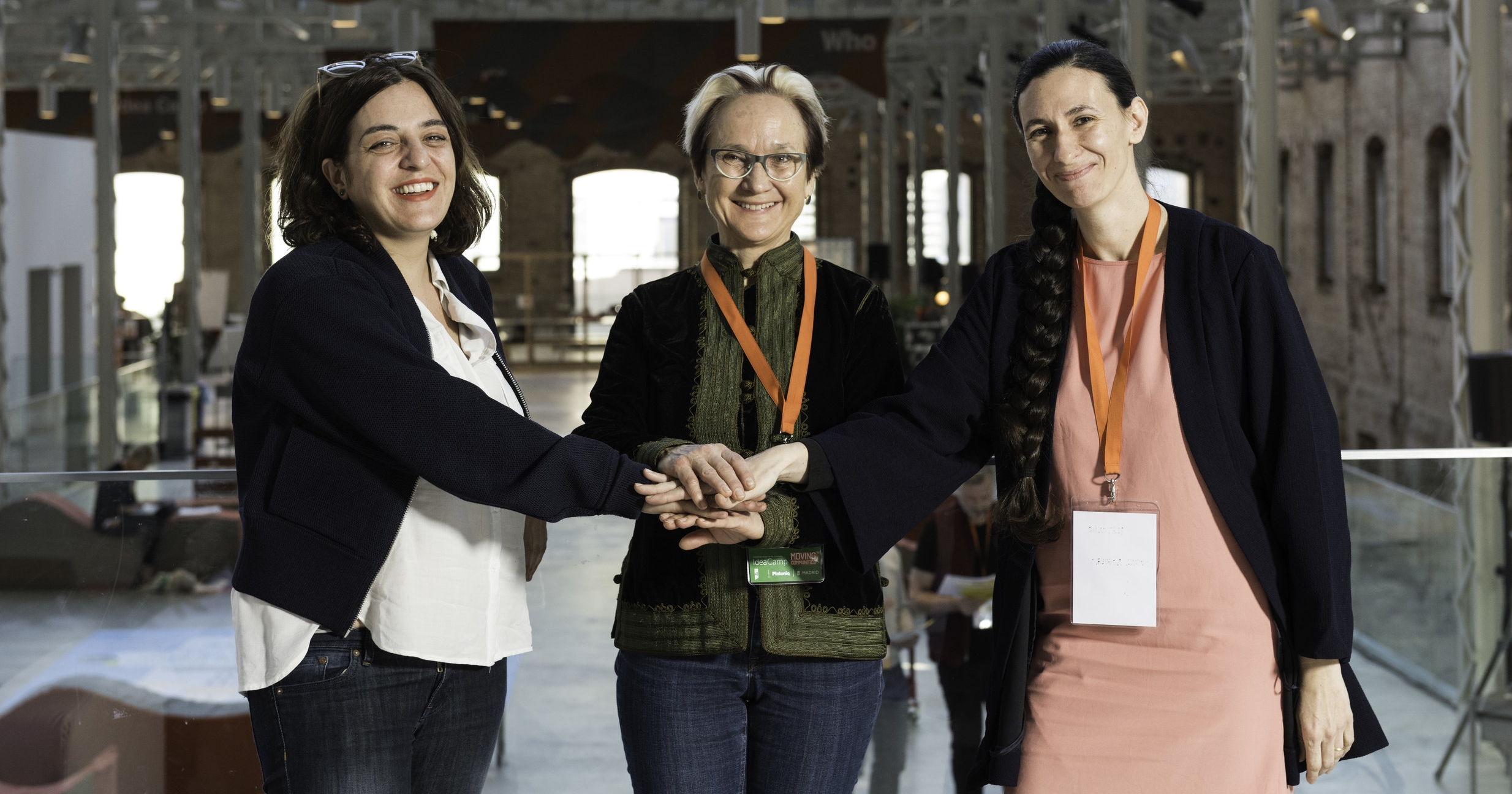 Celia Mayer (Madrid City Counselor for Sports and Culture), Katherine Watson (ECF Director) and Susana Noguero (Managing Director of   Platoniq).   Photo by César Lucas Abreu