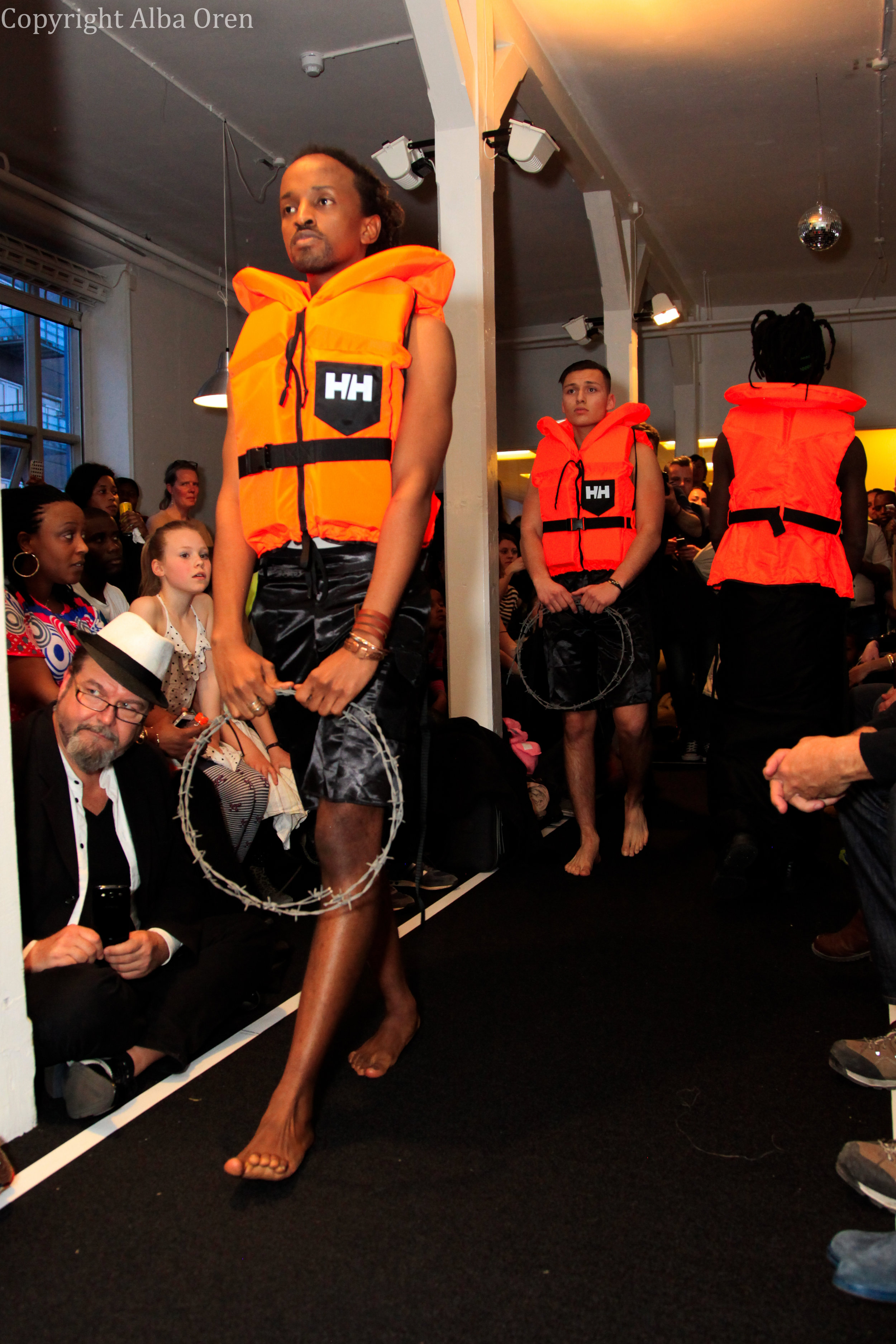 The 2015 inauguration of CAMP featured a live fashion show by Rwandan artist Dady de Maximo titled  If the Sea Could Talk . Photo: Alba Oren